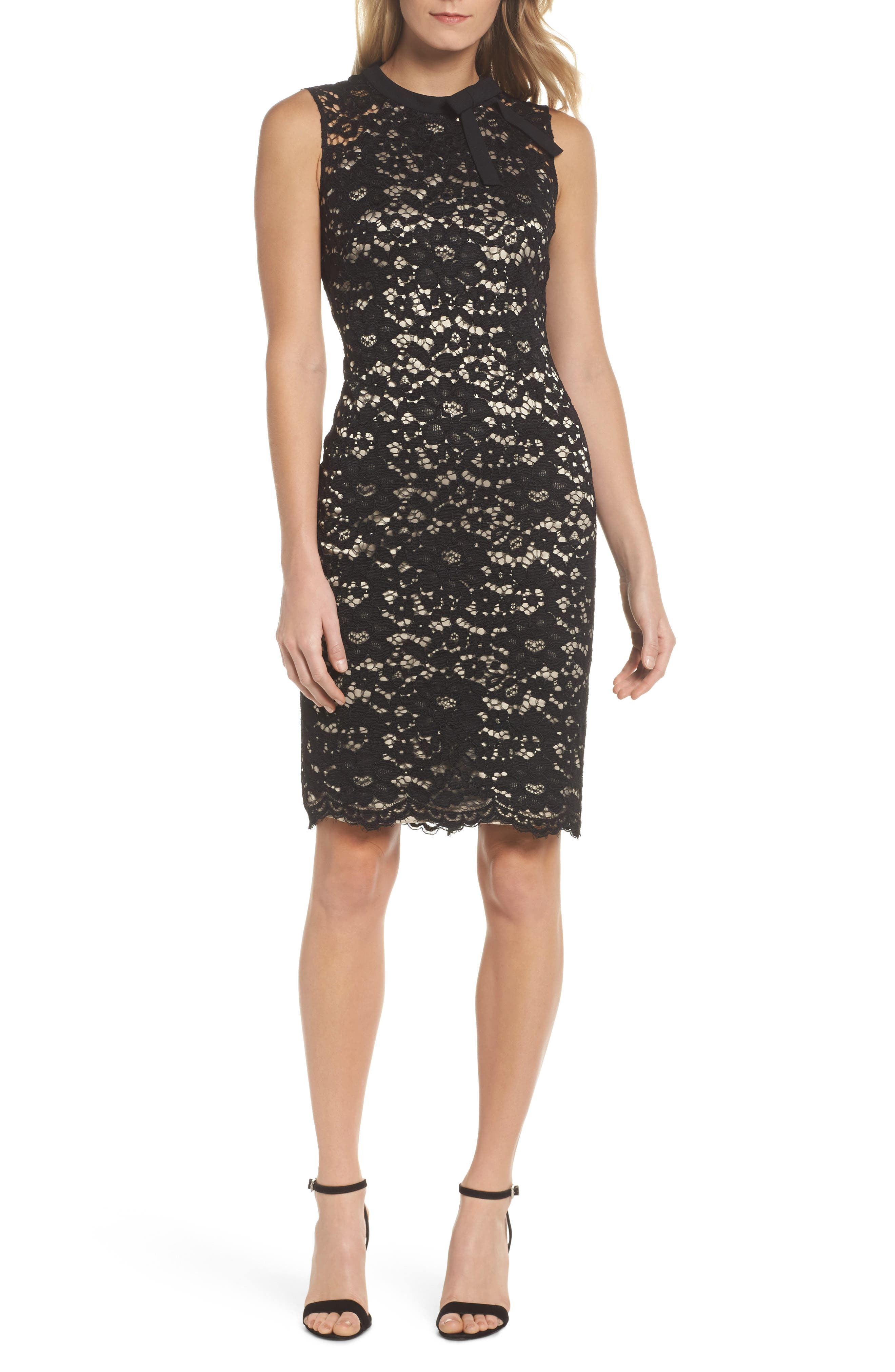 Alternate Image 1 Selected - Vince Camuto Lace Sheath Dress
