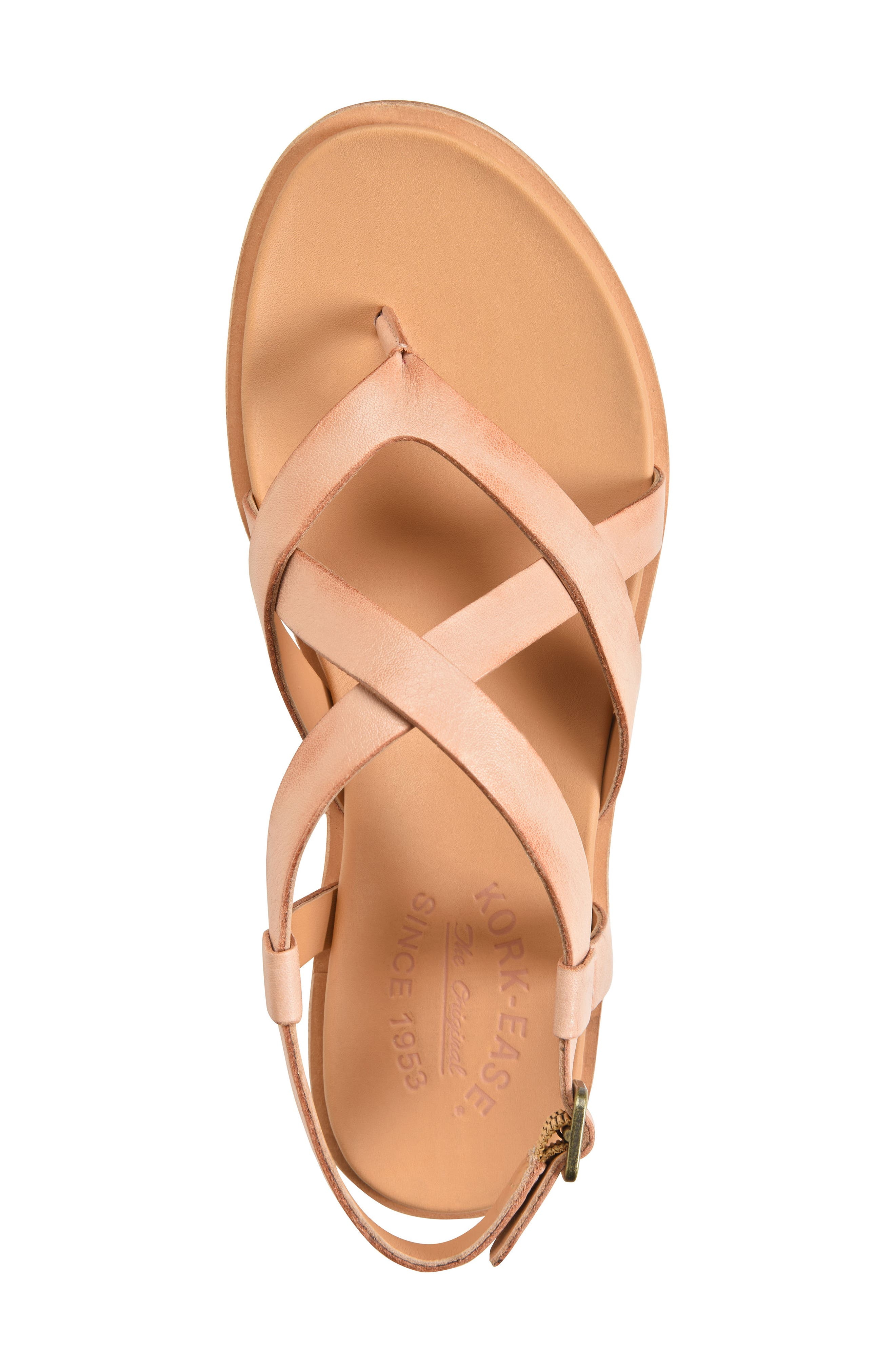 Yarbrough Sandal,                             Alternate thumbnail 5, color,                             Blush Leather