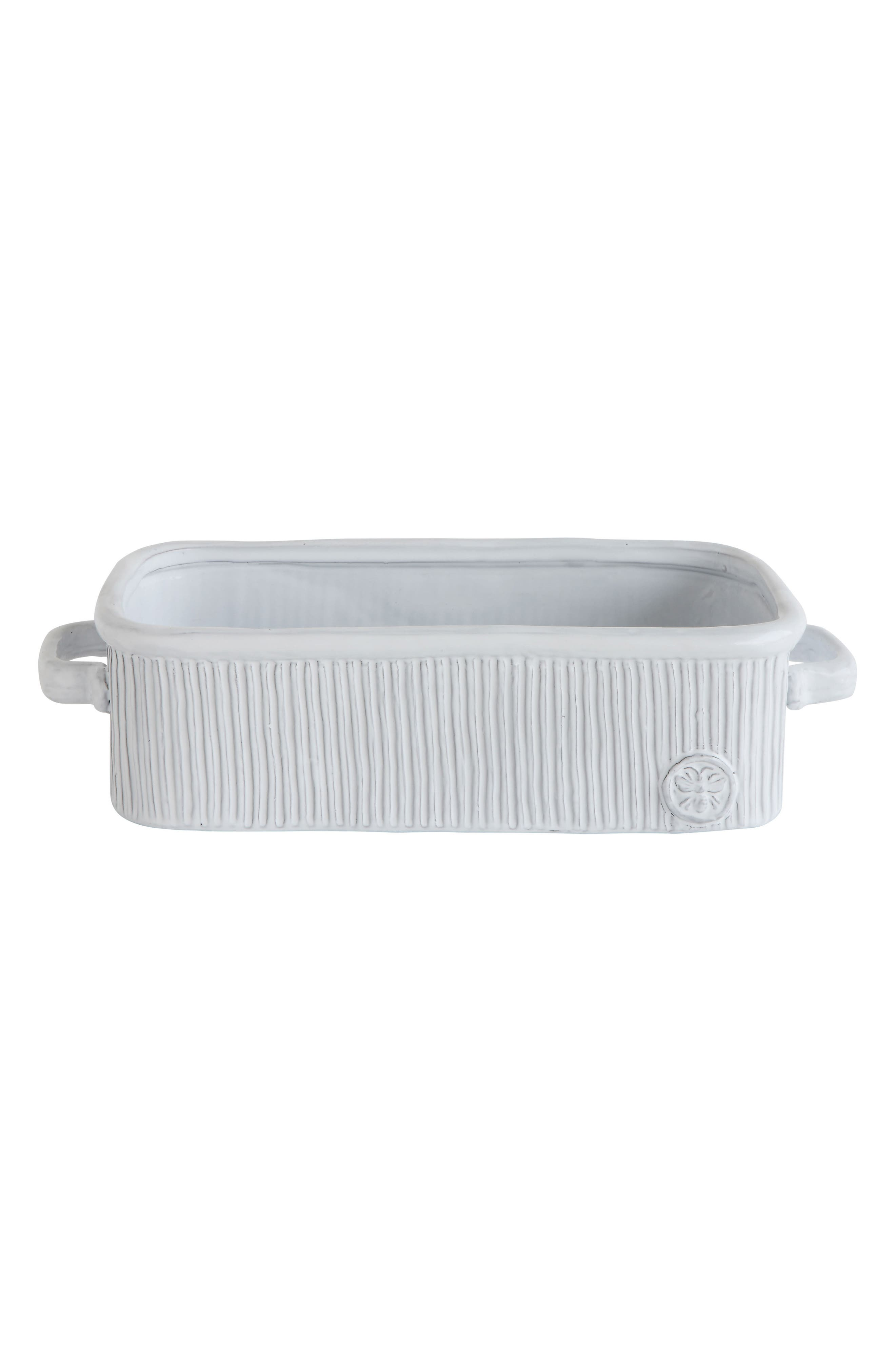 Ceramic Loaf Pan,                             Main thumbnail 1, color,                             White