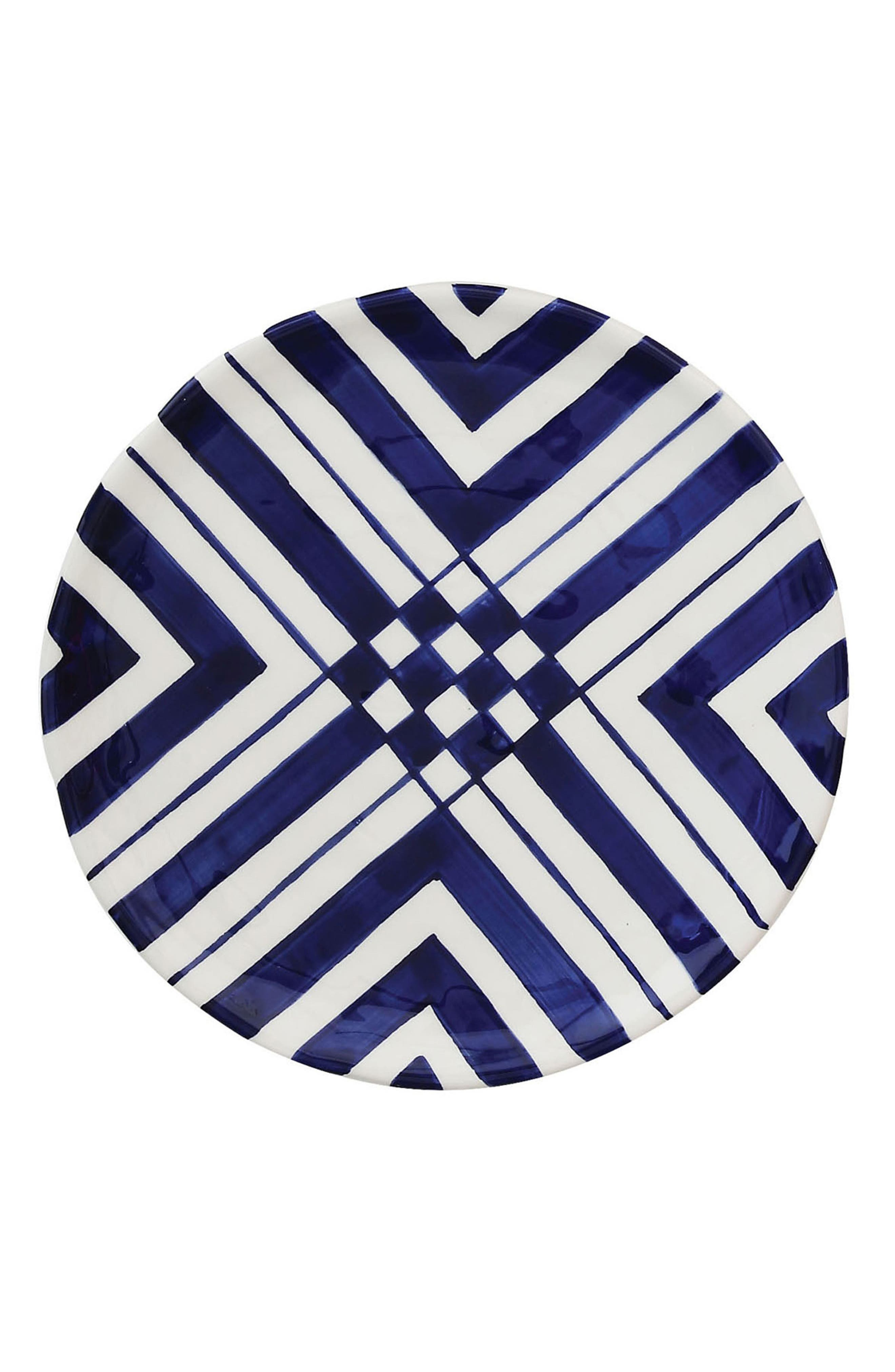 Main Image - Creative Co-Op Blue & White Plate