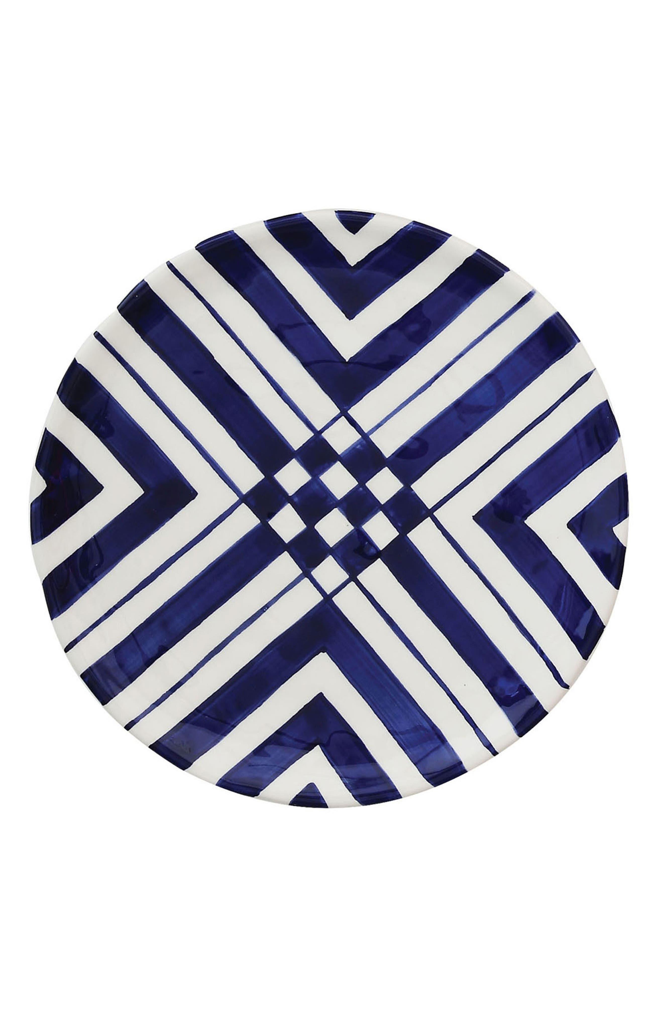 Creative Co-Op Blue & White Plate