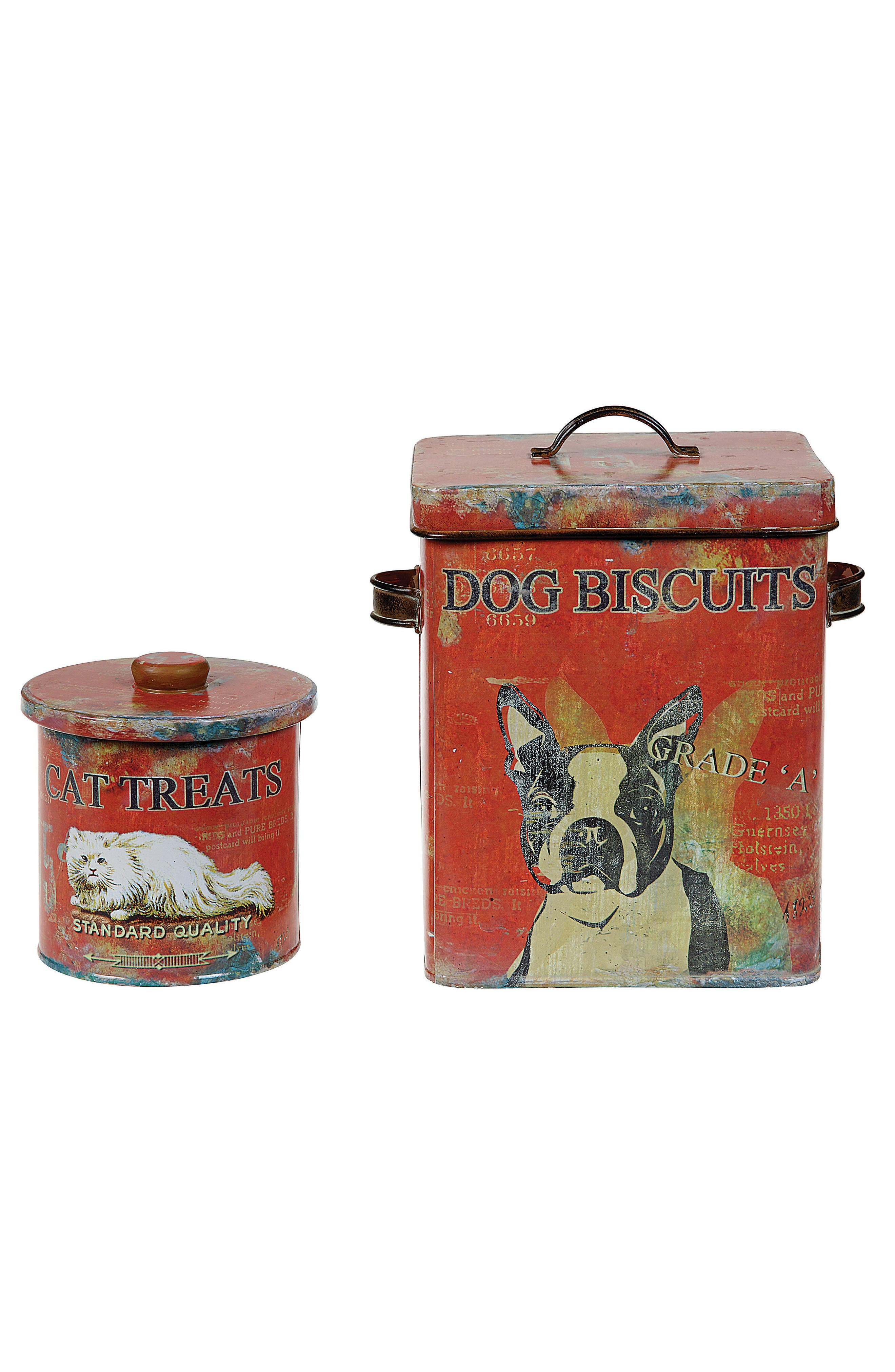Dog Biscuit Tin,                             Alternate thumbnail 2, color,                             Red