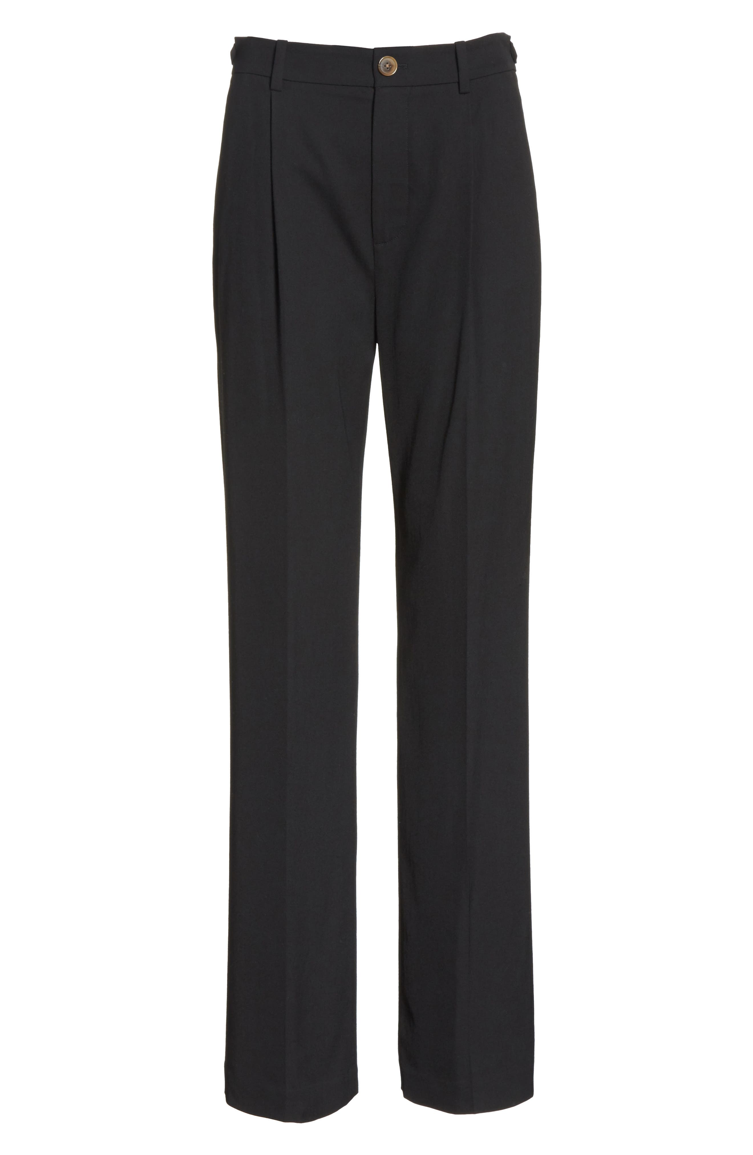 Relaxed Trousers,                             Alternate thumbnail 7, color,                             Black