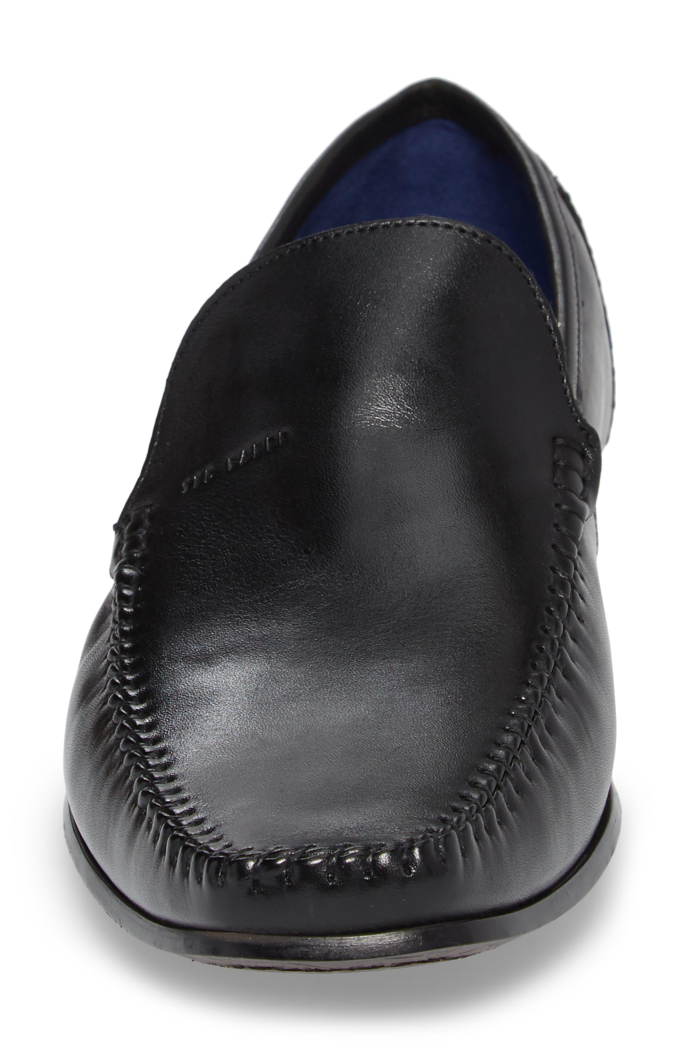 Bly 9 Venetian Loafer,                             Alternate thumbnail 4, color,                             Black Leather