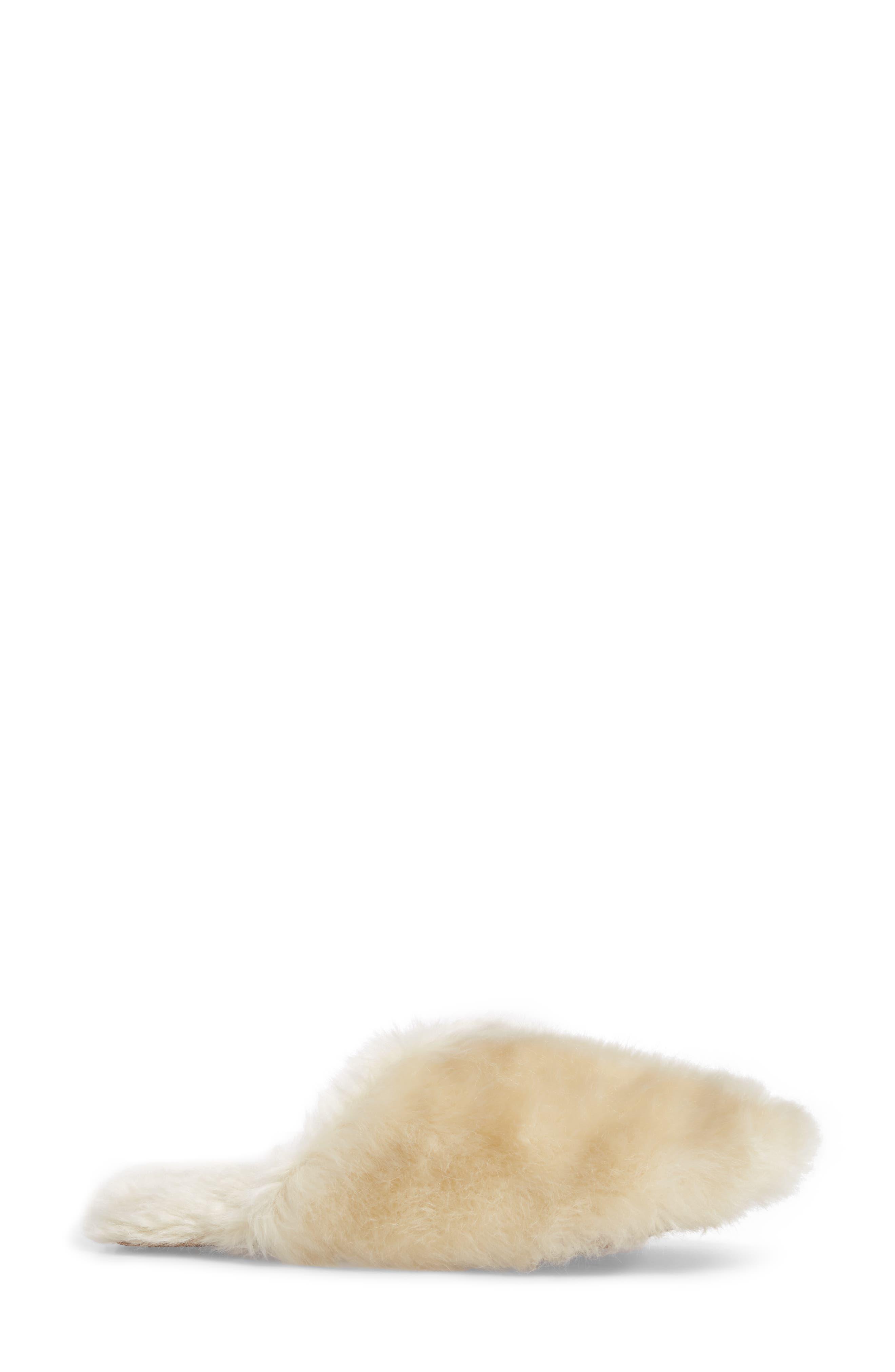 Faux Fur Slipper,                             Alternate thumbnail 3, color,                             Natural