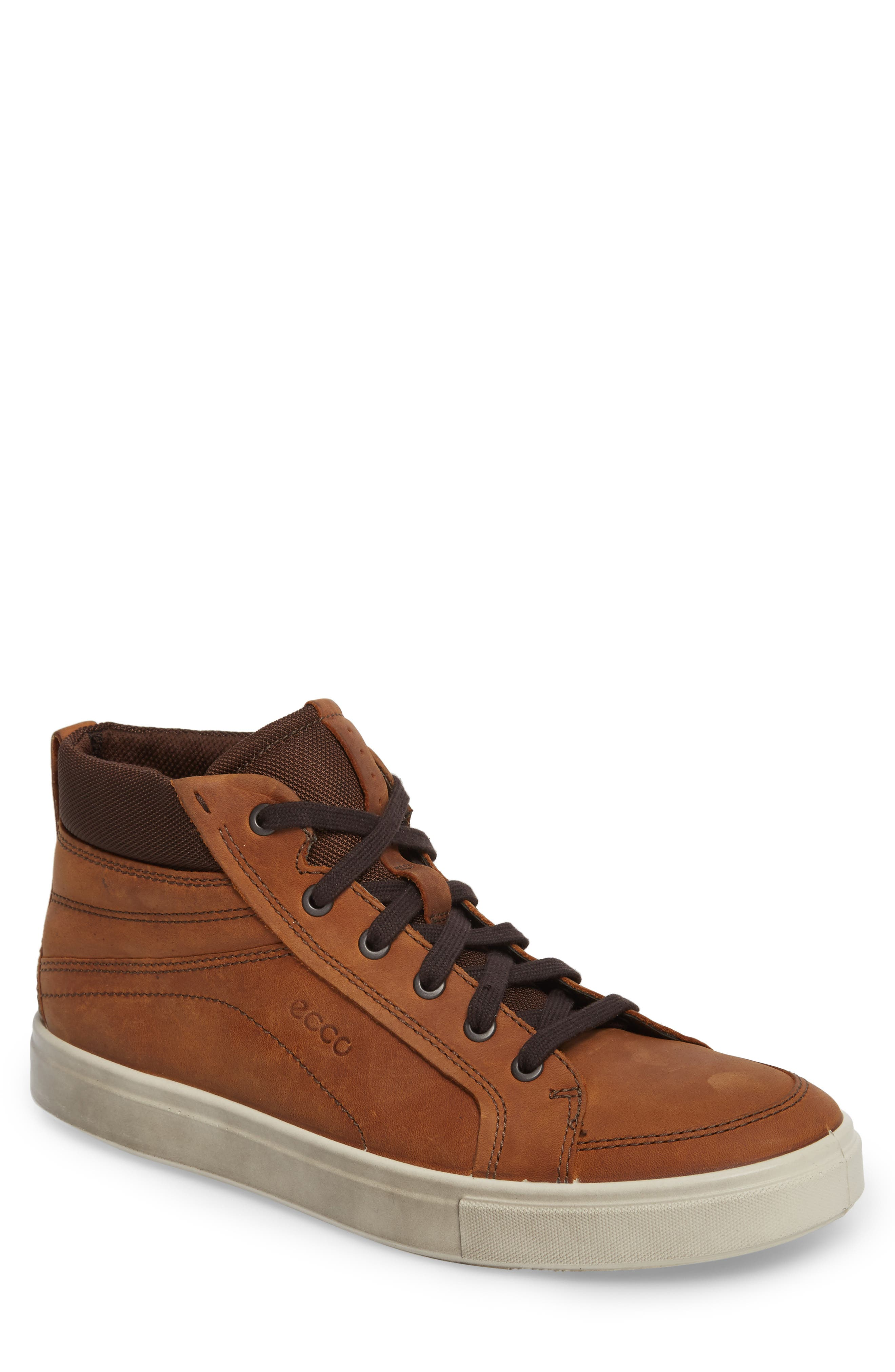 Kyle Sneaker,                         Main,                         color, Amber Leather
