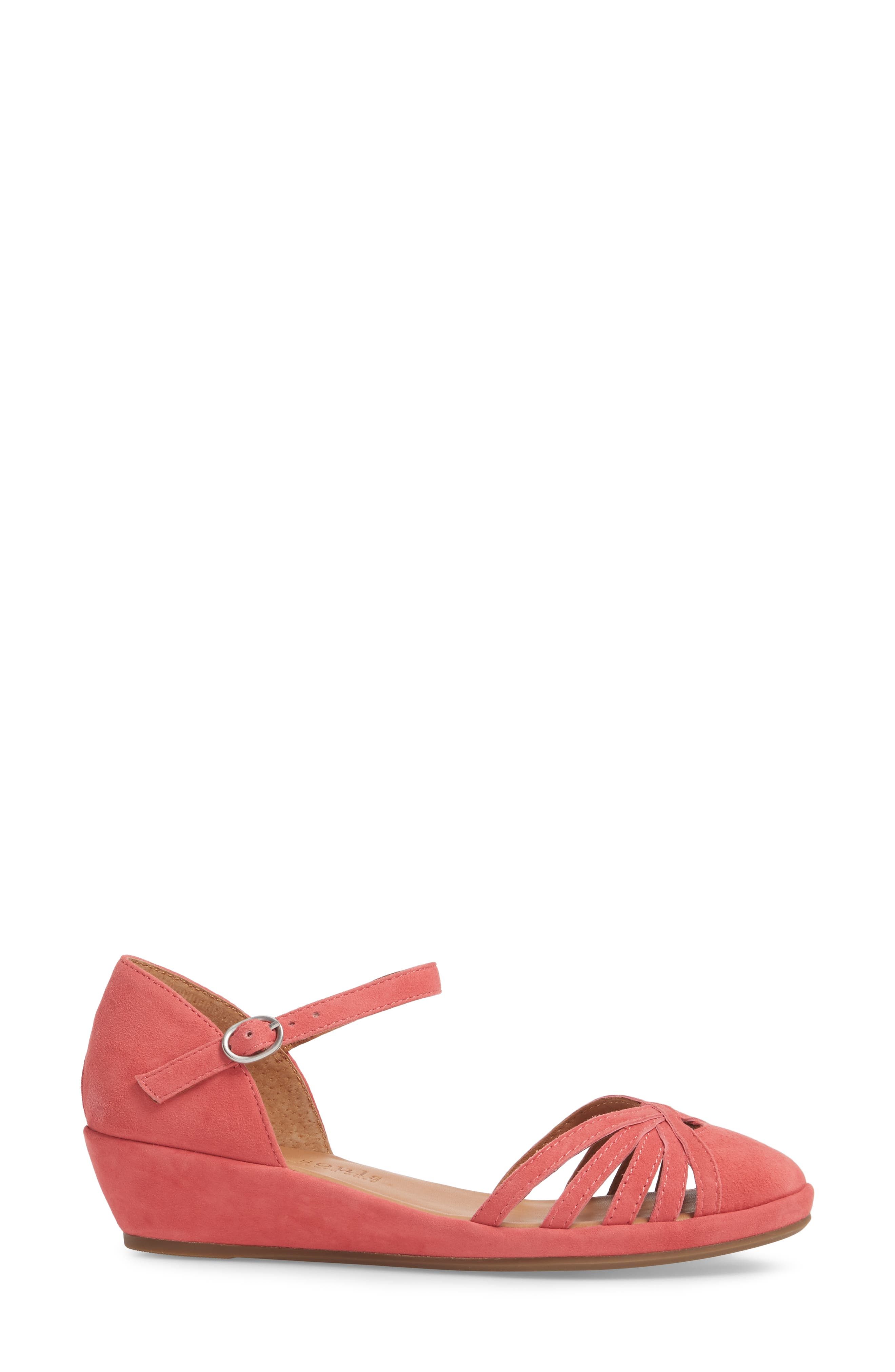 by Kenneth Cole Naira Wedge,                             Alternate thumbnail 3, color,                             Coral Suede