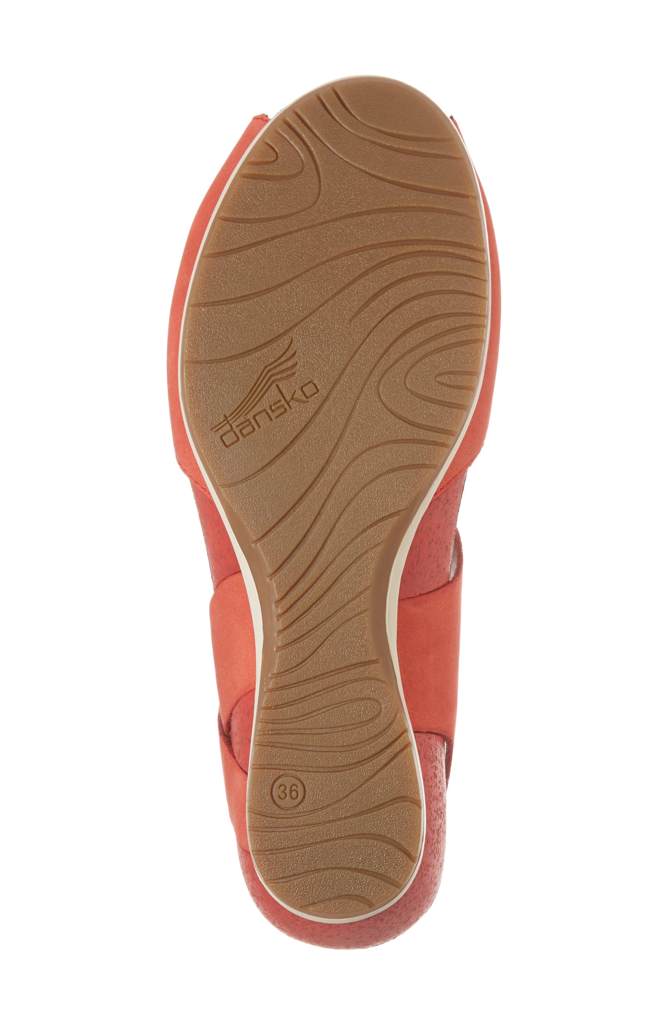 Vera Sandal,                             Alternate thumbnail 6, color,                             Tomato Milled Nubuck Leather