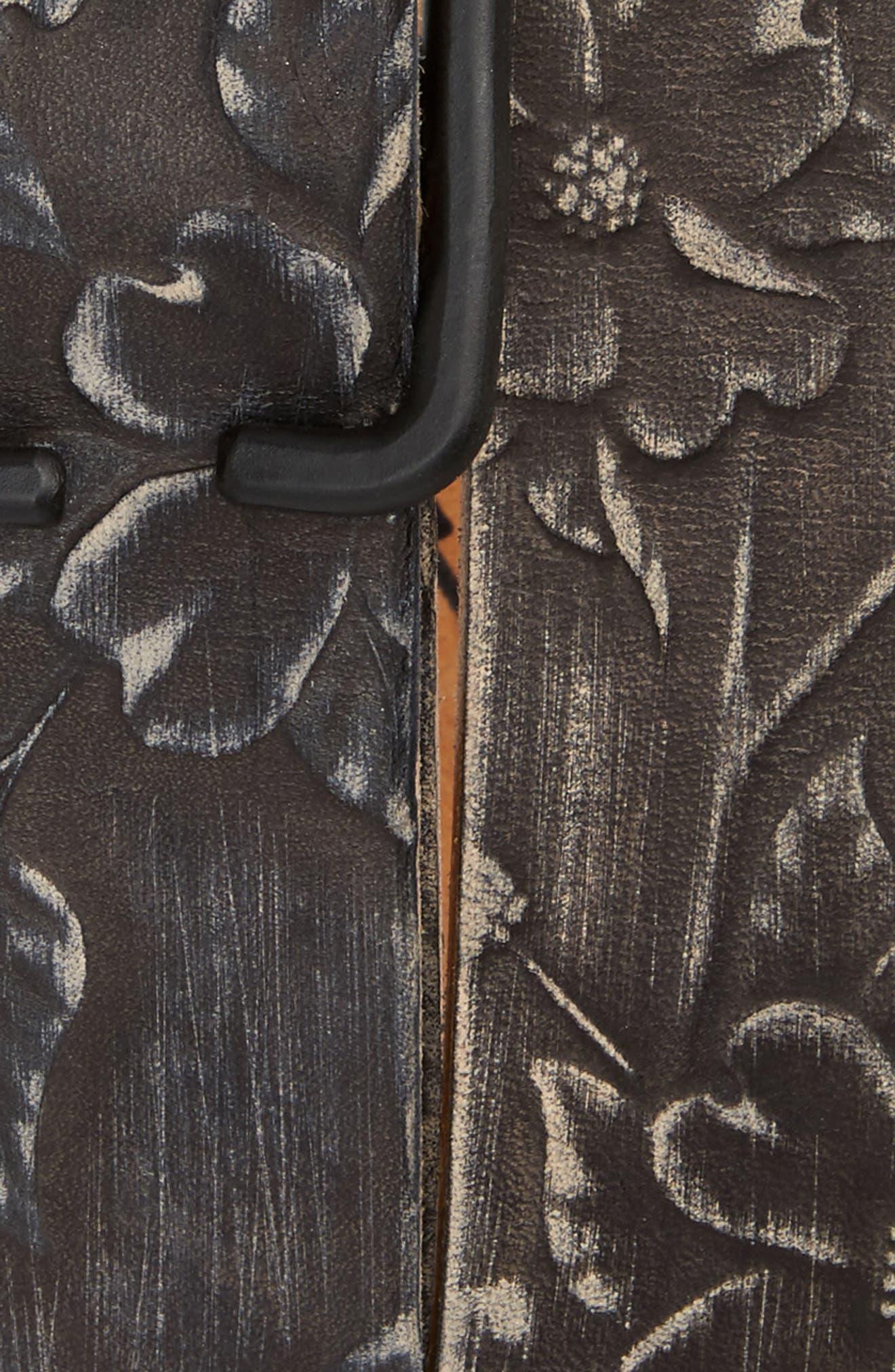 Alternate Image 2  - Cause & Effect Dogwood Tooled Leather Belt