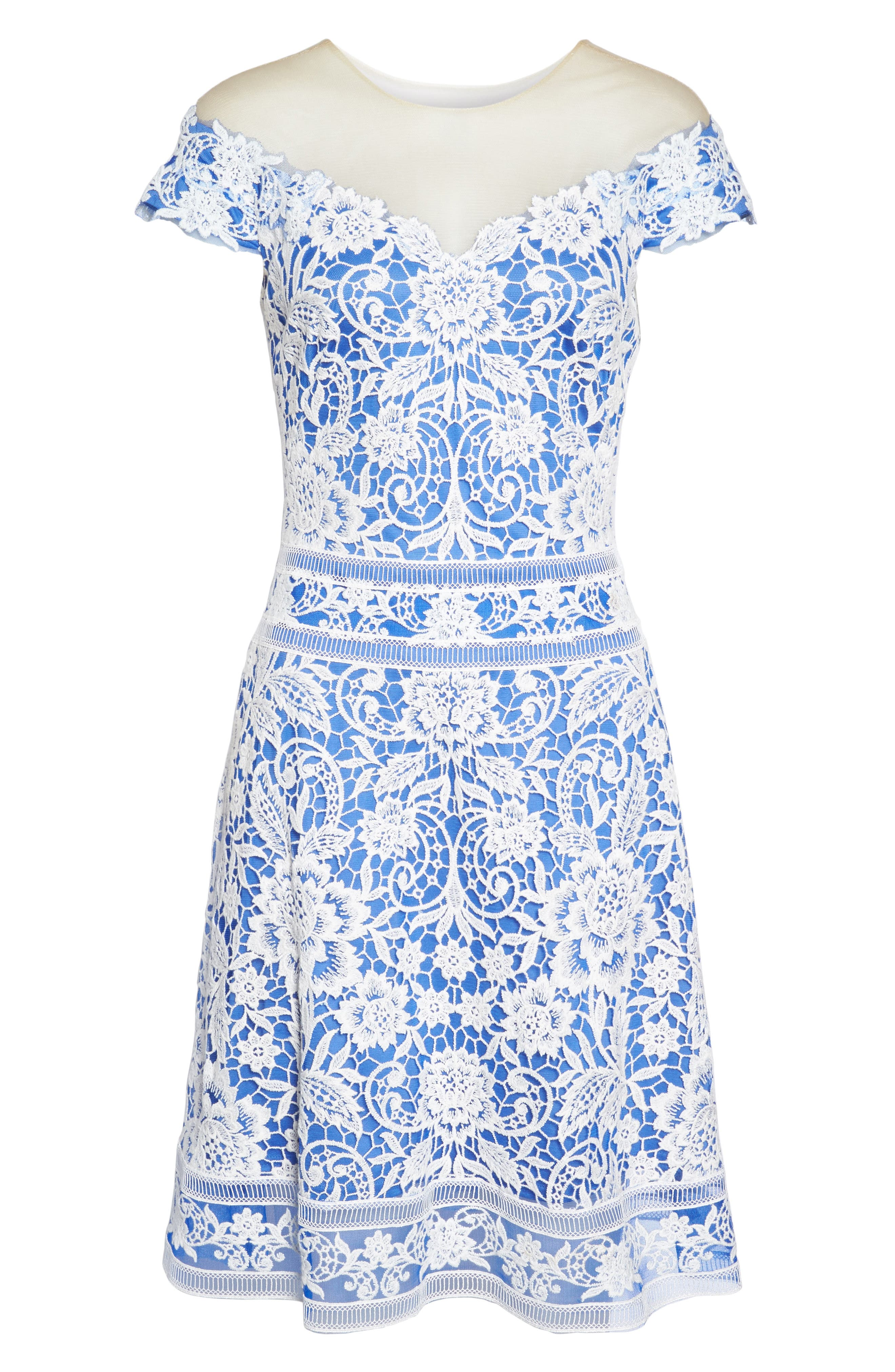 Alternate Image 6  - Tadashi Shoji Illusion Neck Crochet Lace Dress