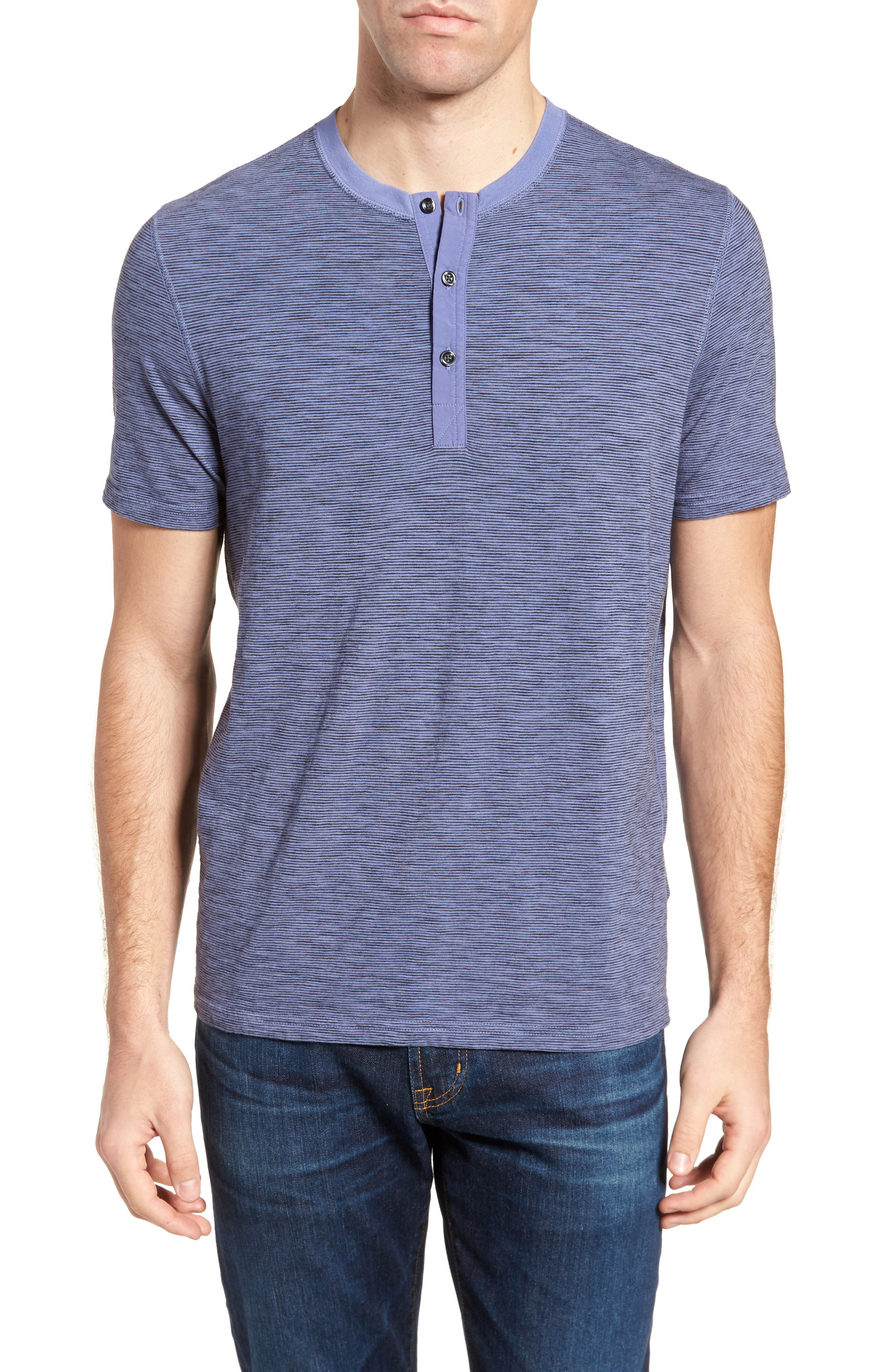 Garment Dyed Henley,                         Main,                         color, Periwinkle