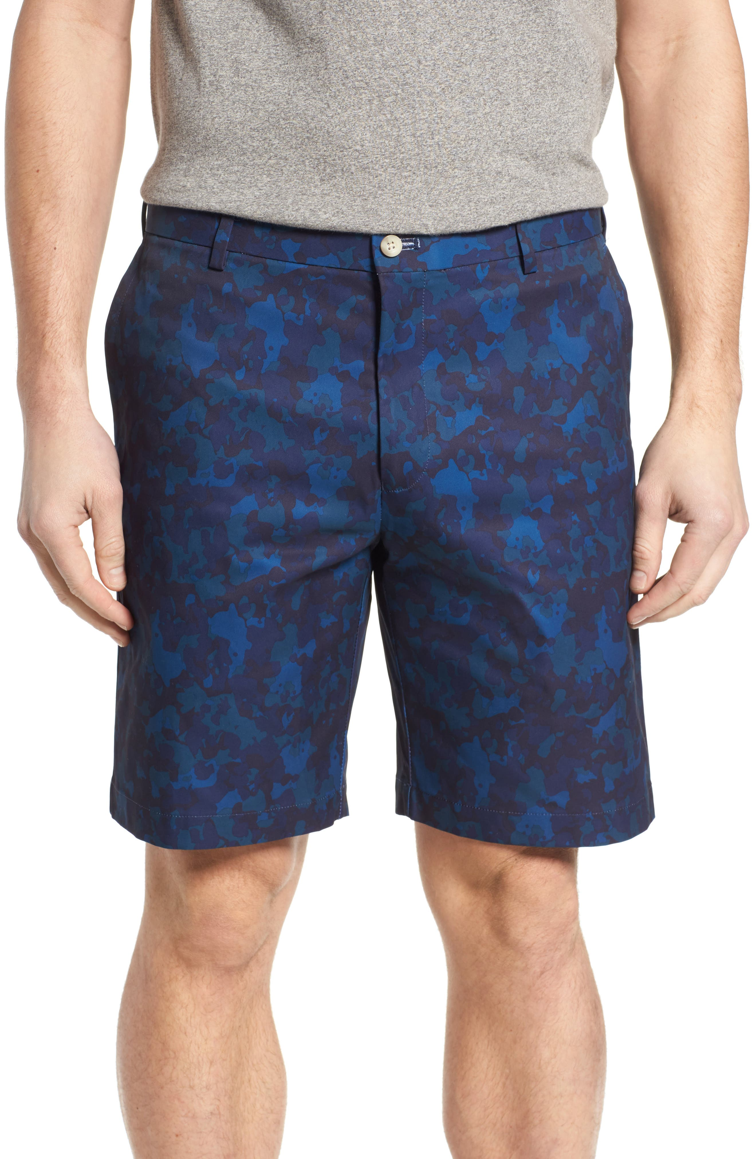 Carrboro Camo Performance Shorts,                         Main,                         color, Yankee Blue