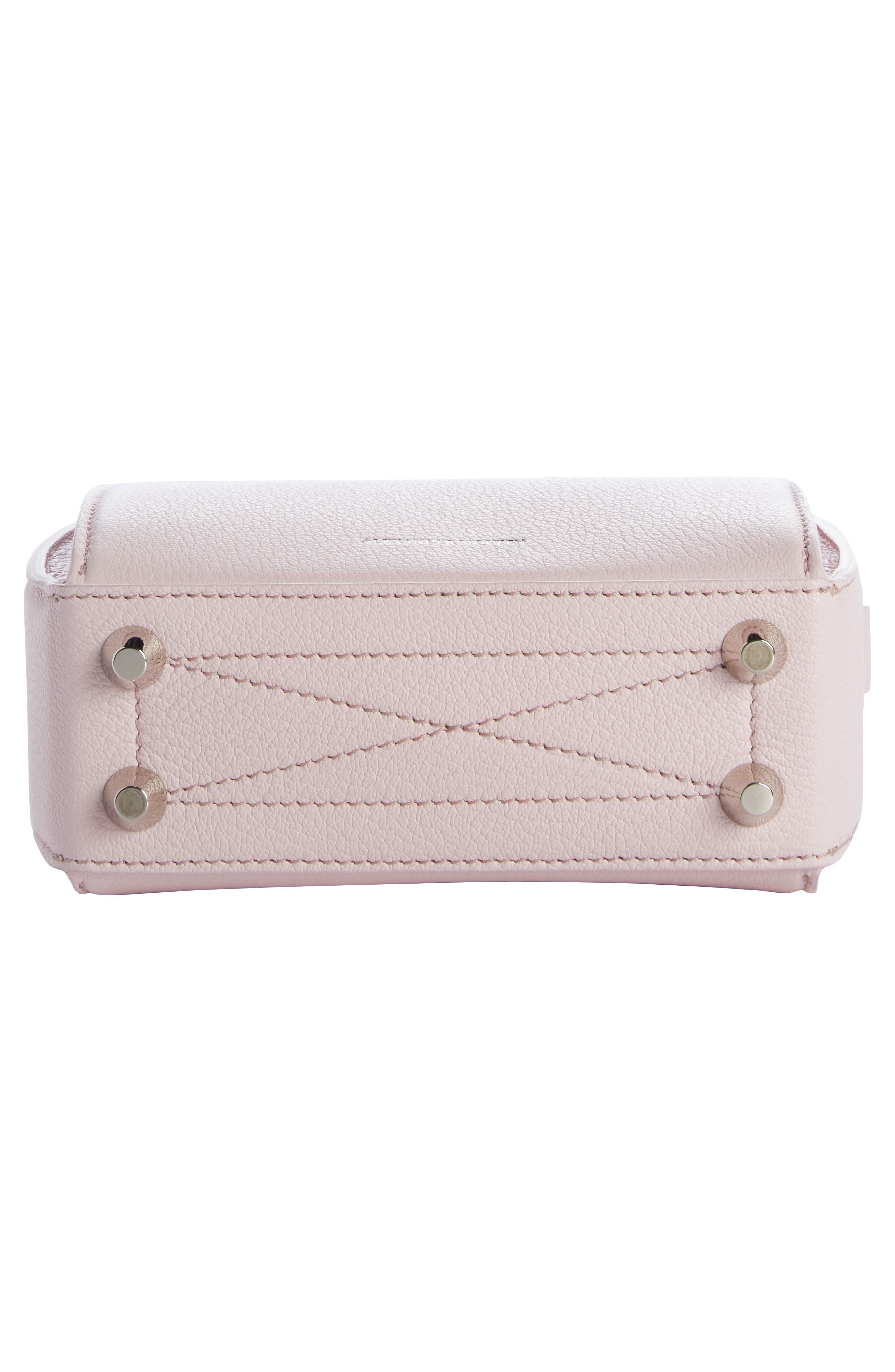 Box Bag 16 Leather Bag,                             Alternate thumbnail 5, color,                             Baby Pink/ Ivory