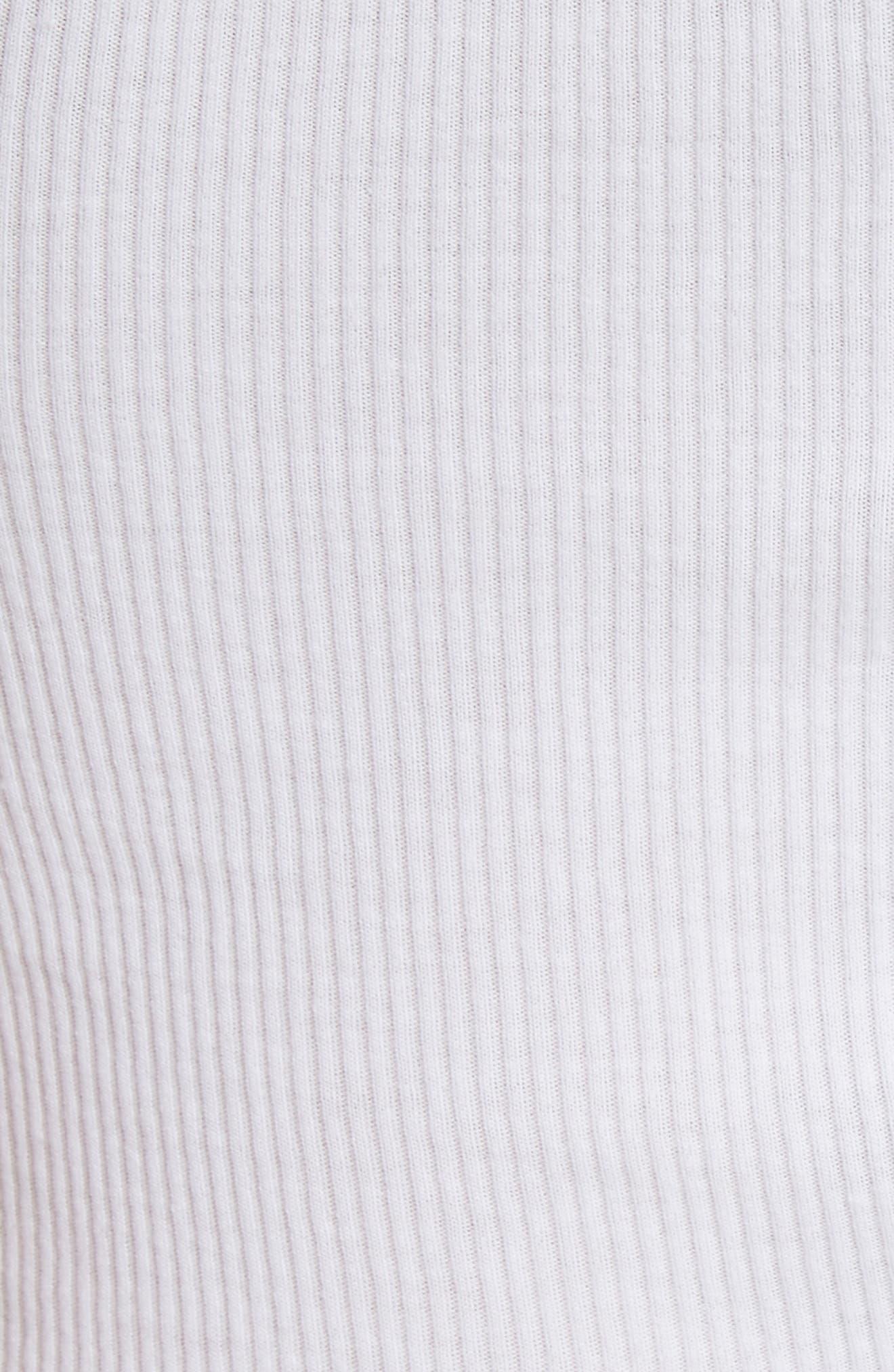 Ribbed Tank Top,                             Alternate thumbnail 5, color,                             Optic White