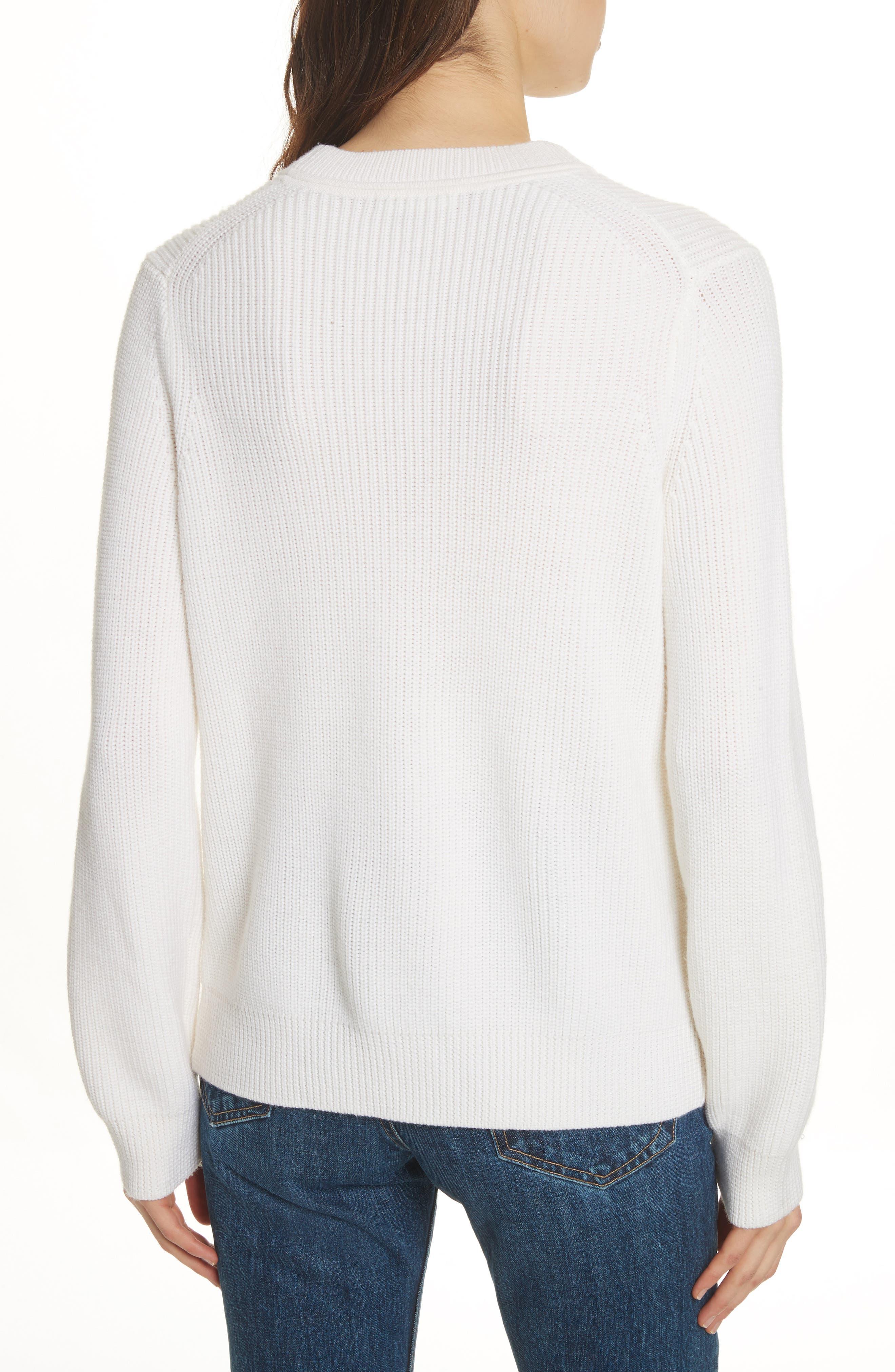 Tori Cutout Sweatshirt,                             Alternate thumbnail 2, color,                             Ivory