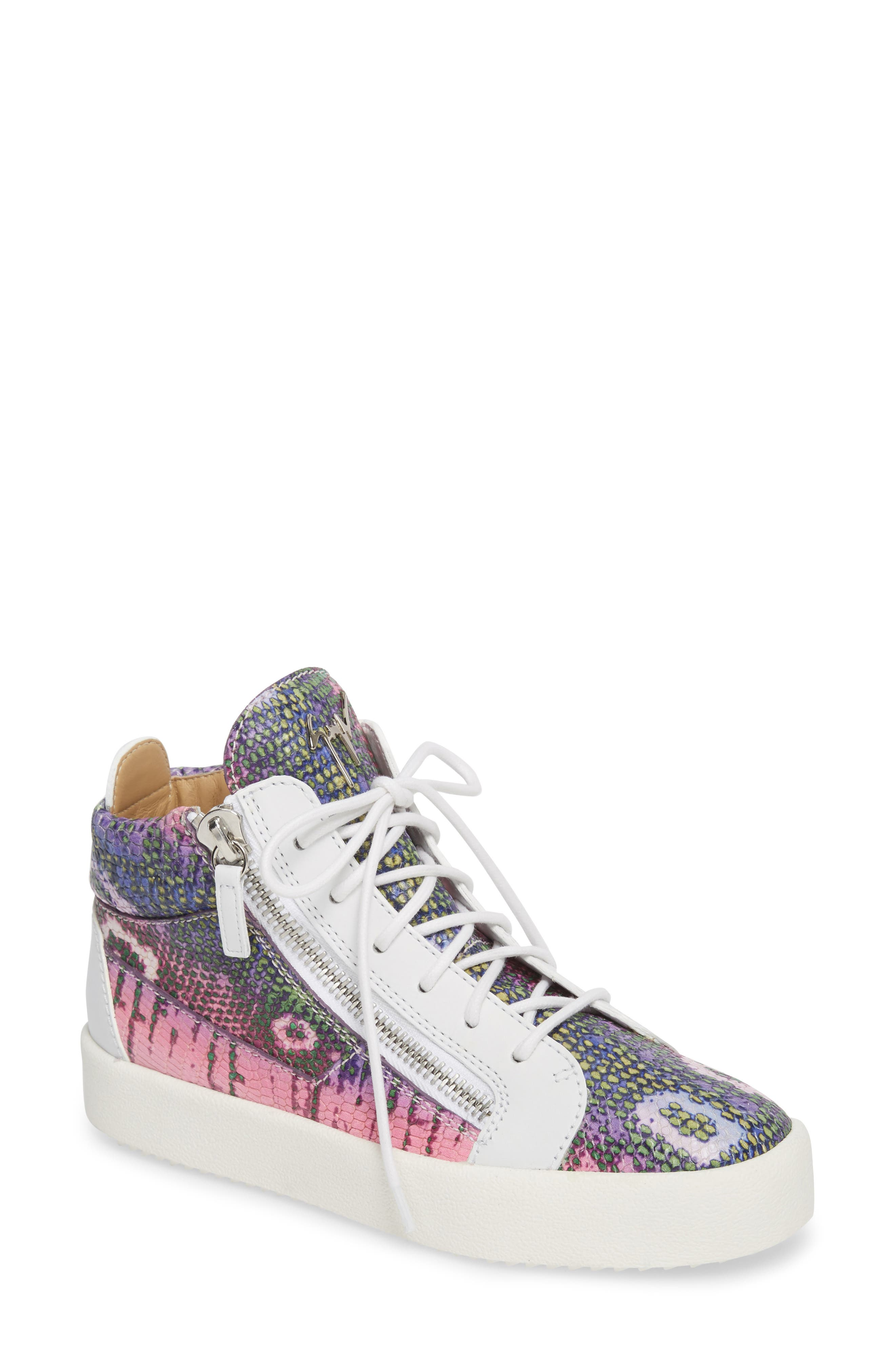 Giuseppe Zanotti Mid Top Platform Sneaker (Women)