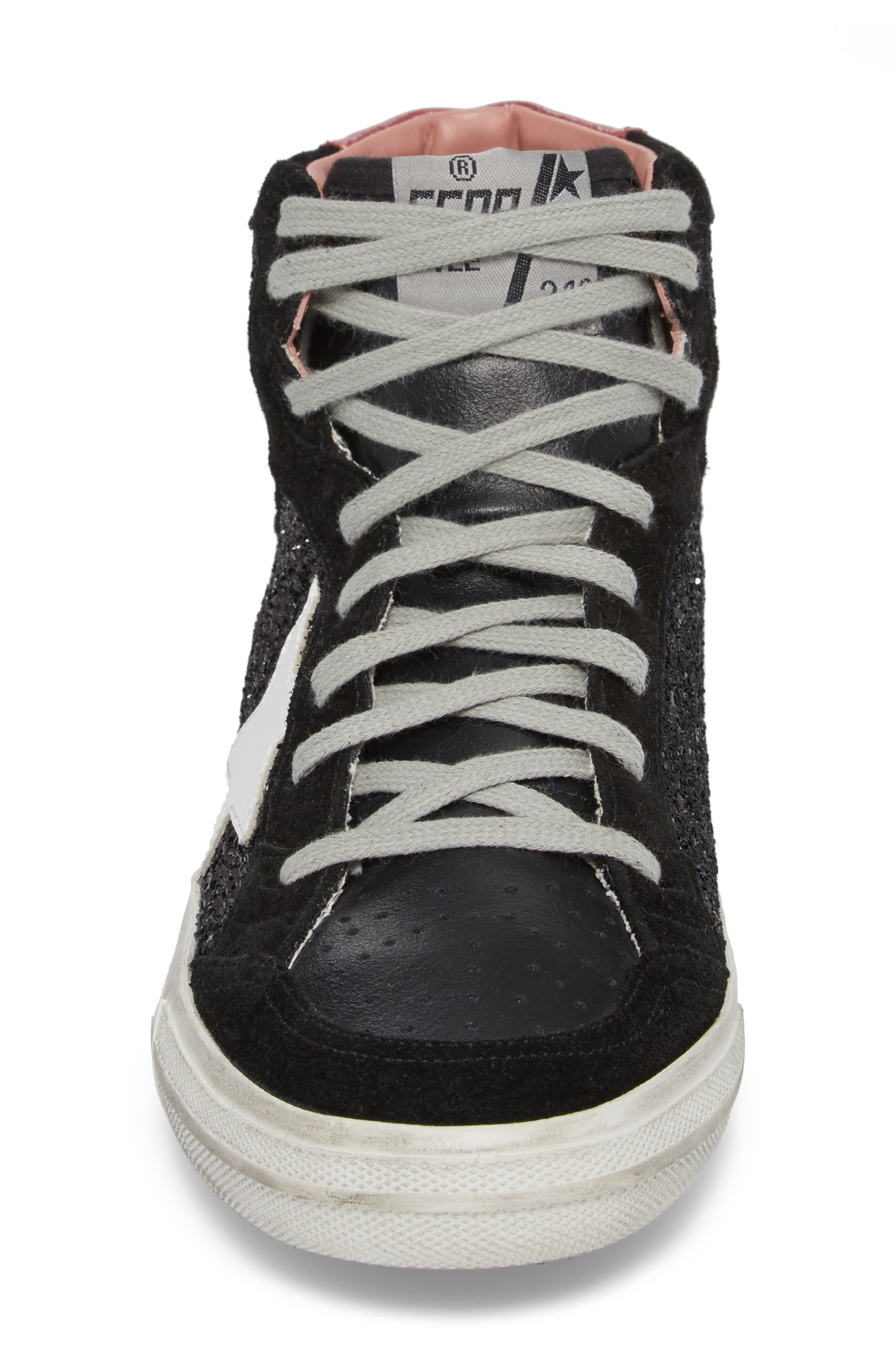 2.12 Star High Top Sneaker,                             Alternate thumbnail 3, color,                             Black