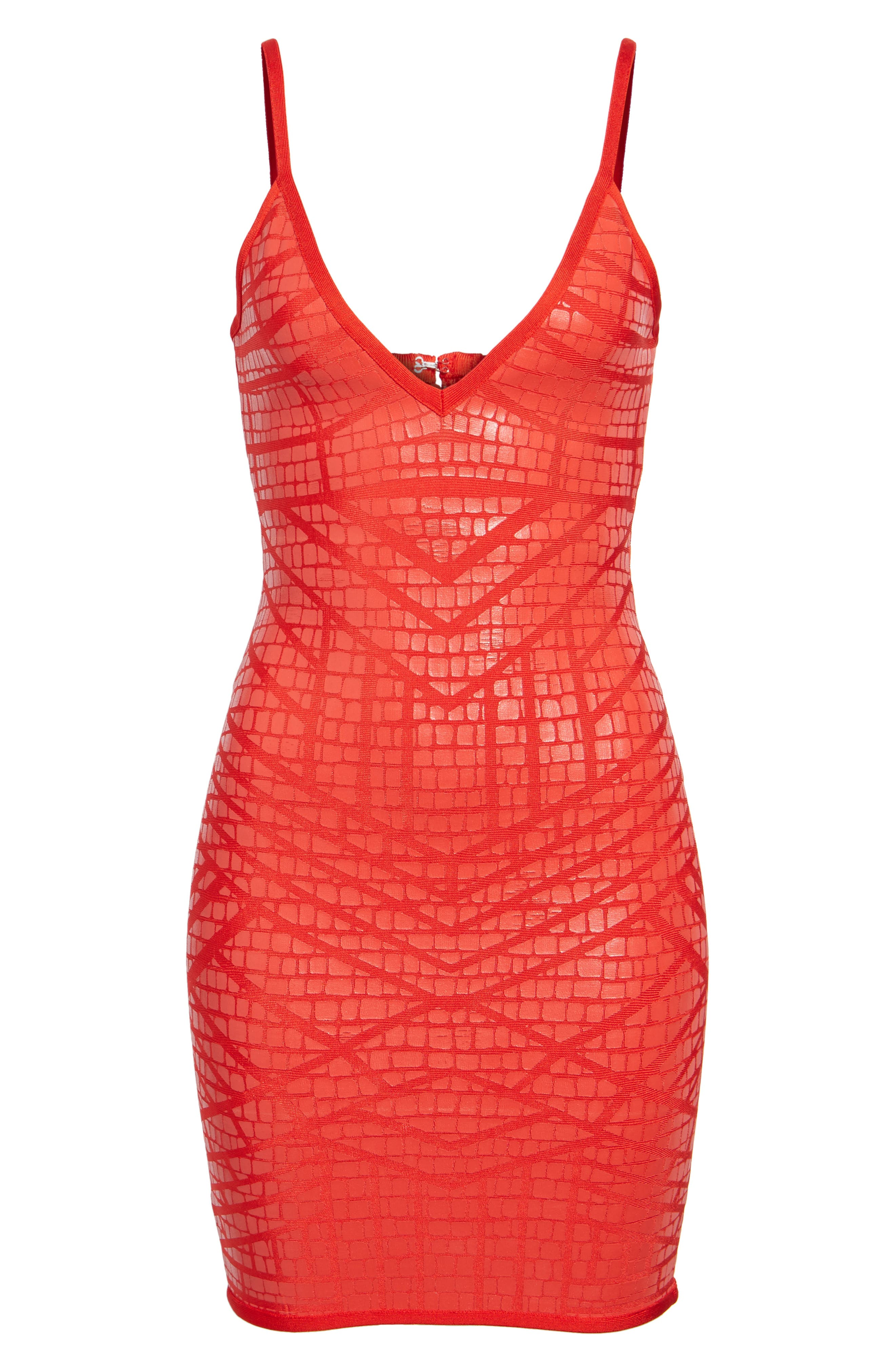 Bandage Body-Con Dress,                             Alternate thumbnail 7, color,                             Red