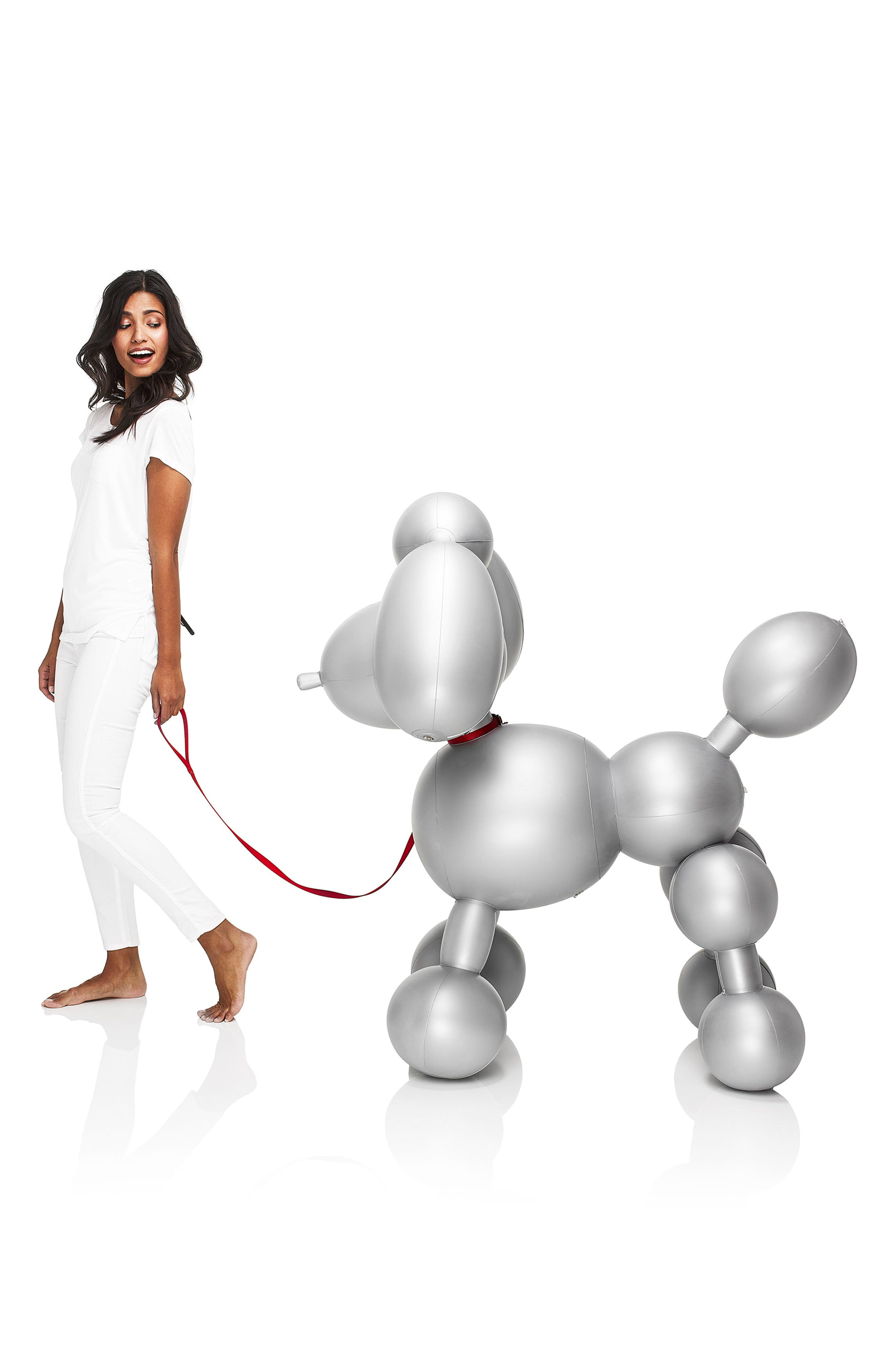 Dolly Inflatable Dog Decoration,                             Alternate thumbnail 4, color,                             Silver