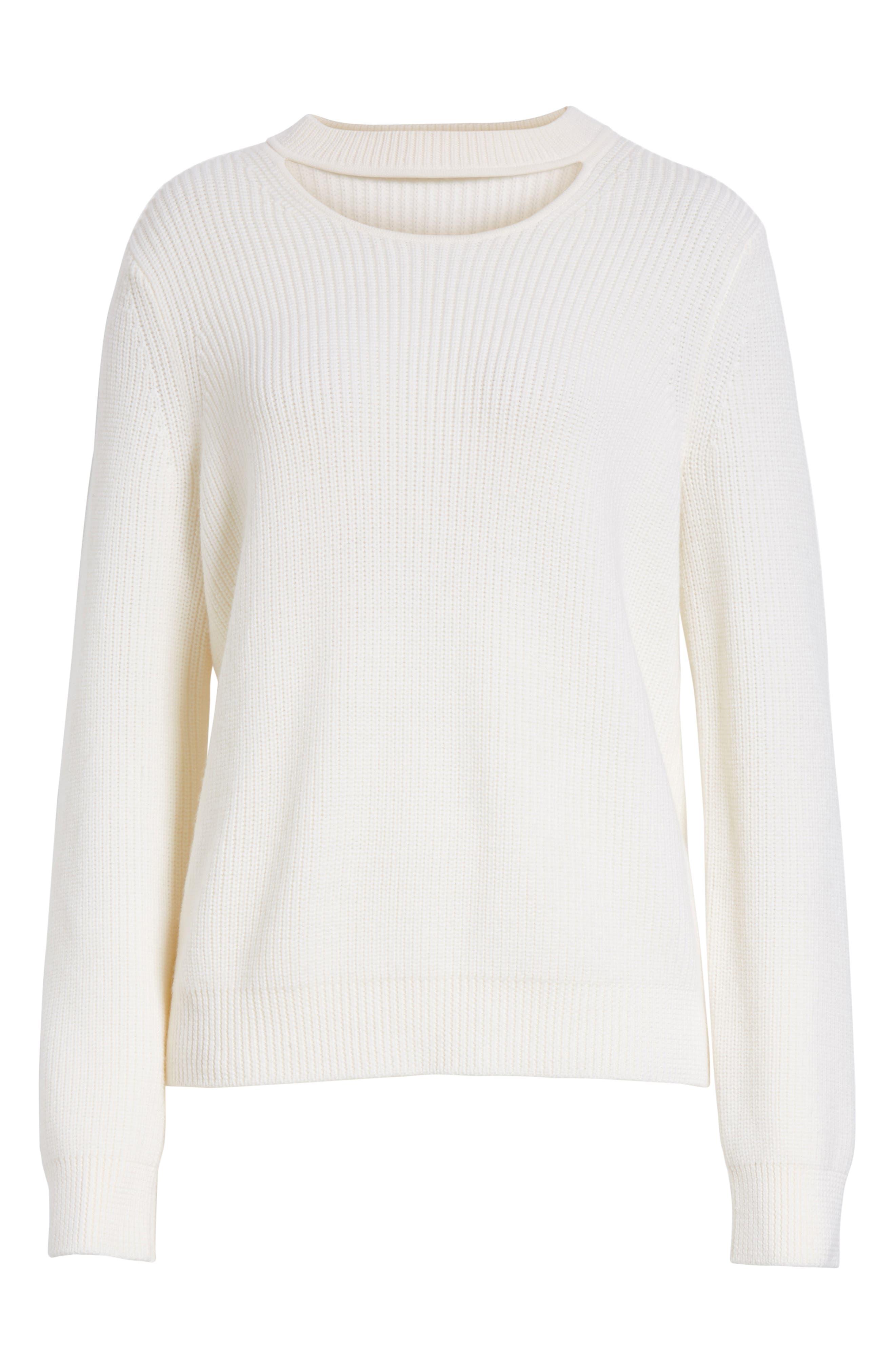 Tori Cutout Sweatshirt,                             Main thumbnail 1, color,                             Ivory