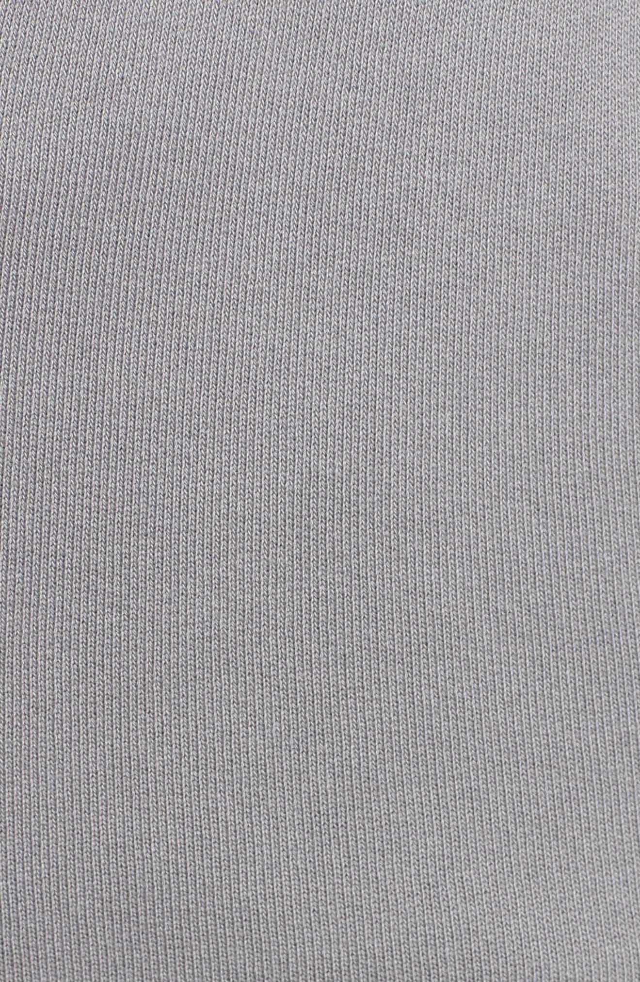 Tee Lab Raw Hem Crop Sweatpants,                             Alternate thumbnail 6, color,                             Shadow