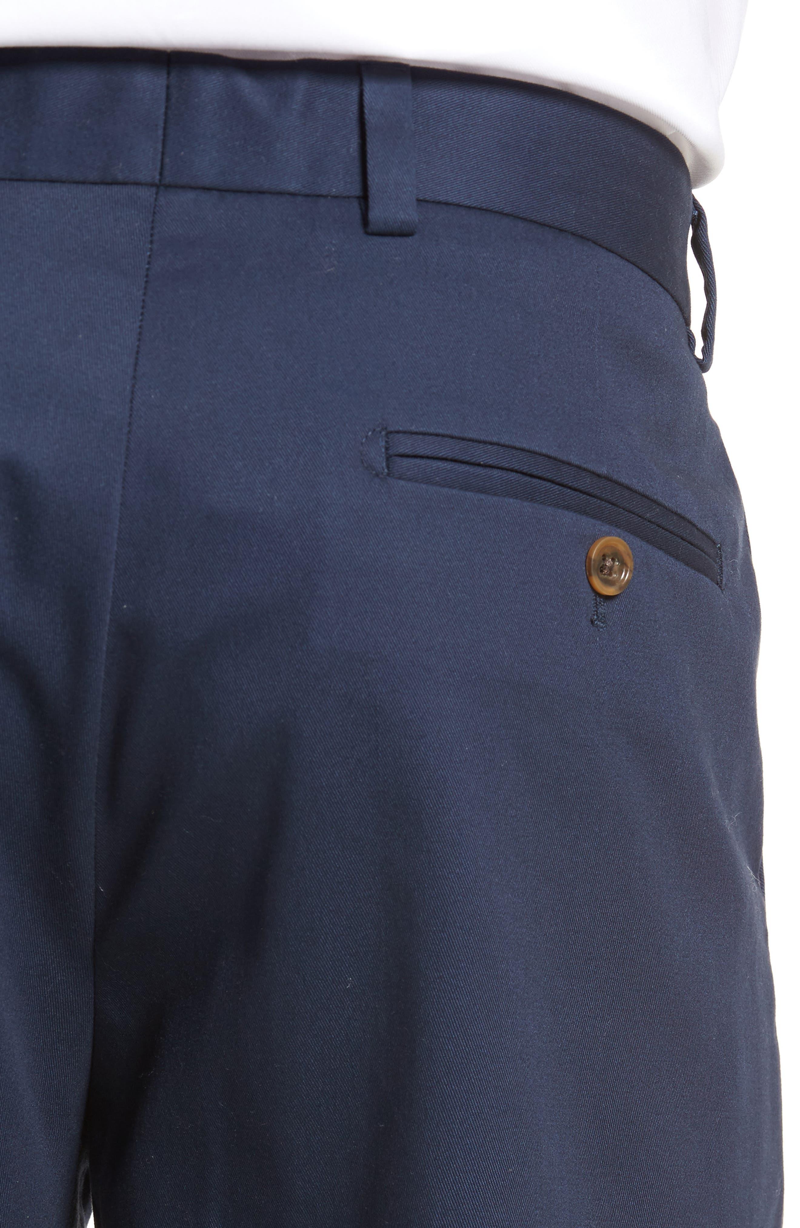 Alternate Image 4  - Nordstrom Men's Shop Wrinkle Free Straight Leg Chinos