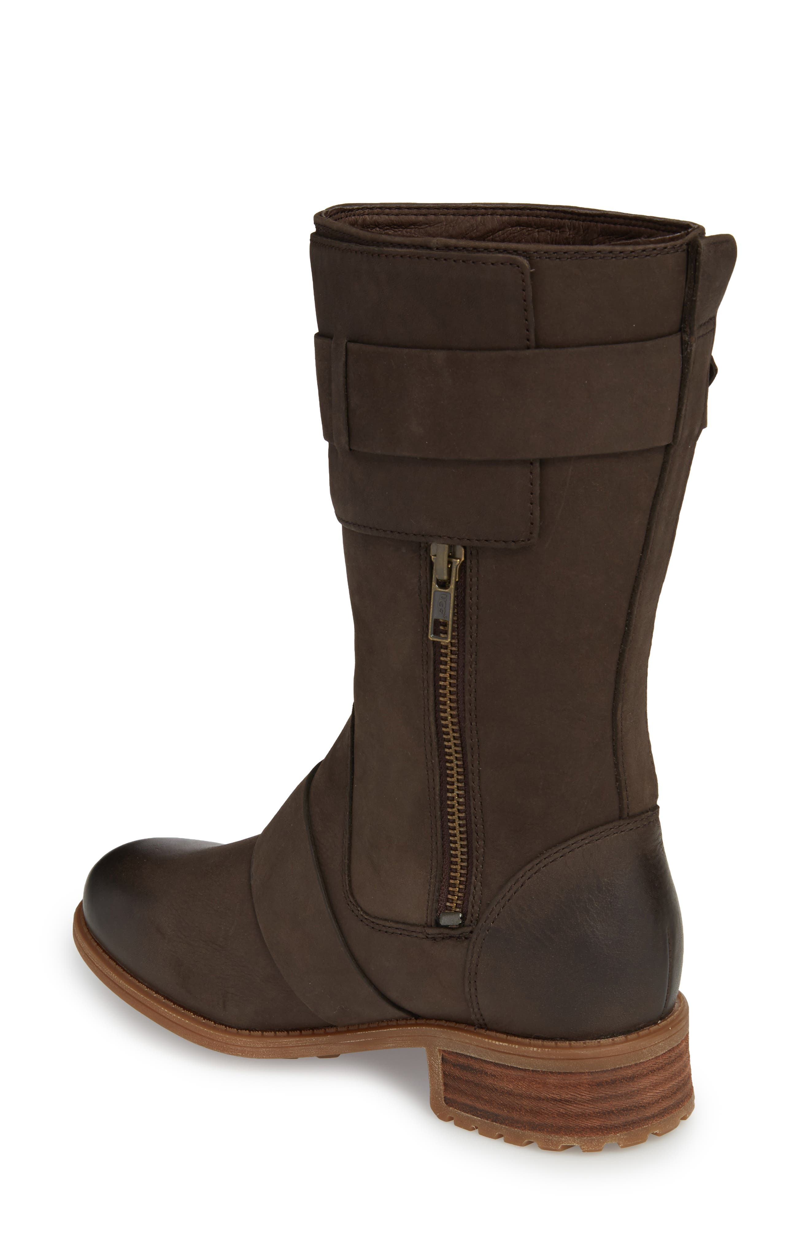 Chancey Moto Boot,                             Alternate thumbnail 2, color,                             Stout Leather