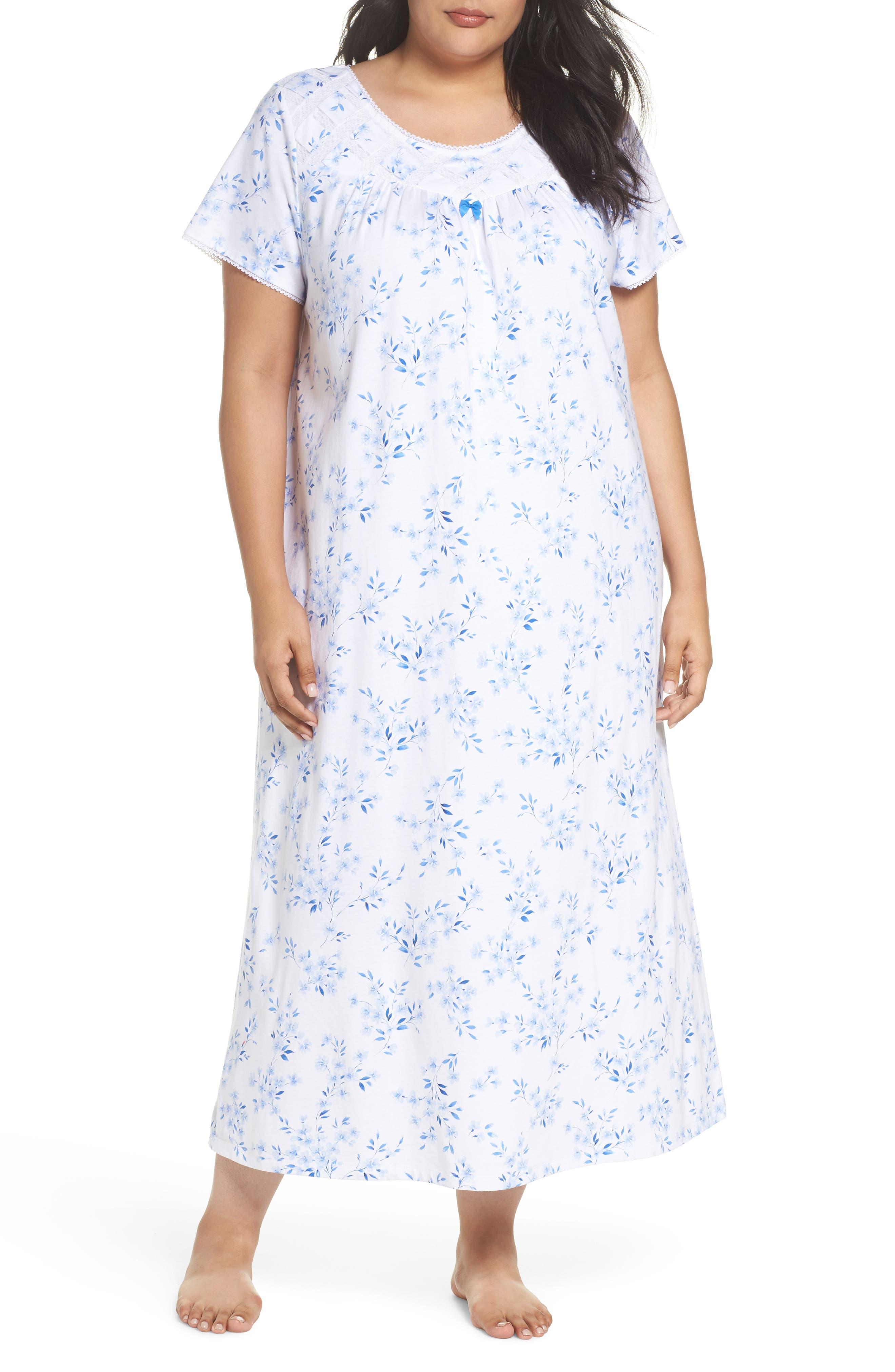 Carole Hochman Jersey Long Nightgown (Plus Size)