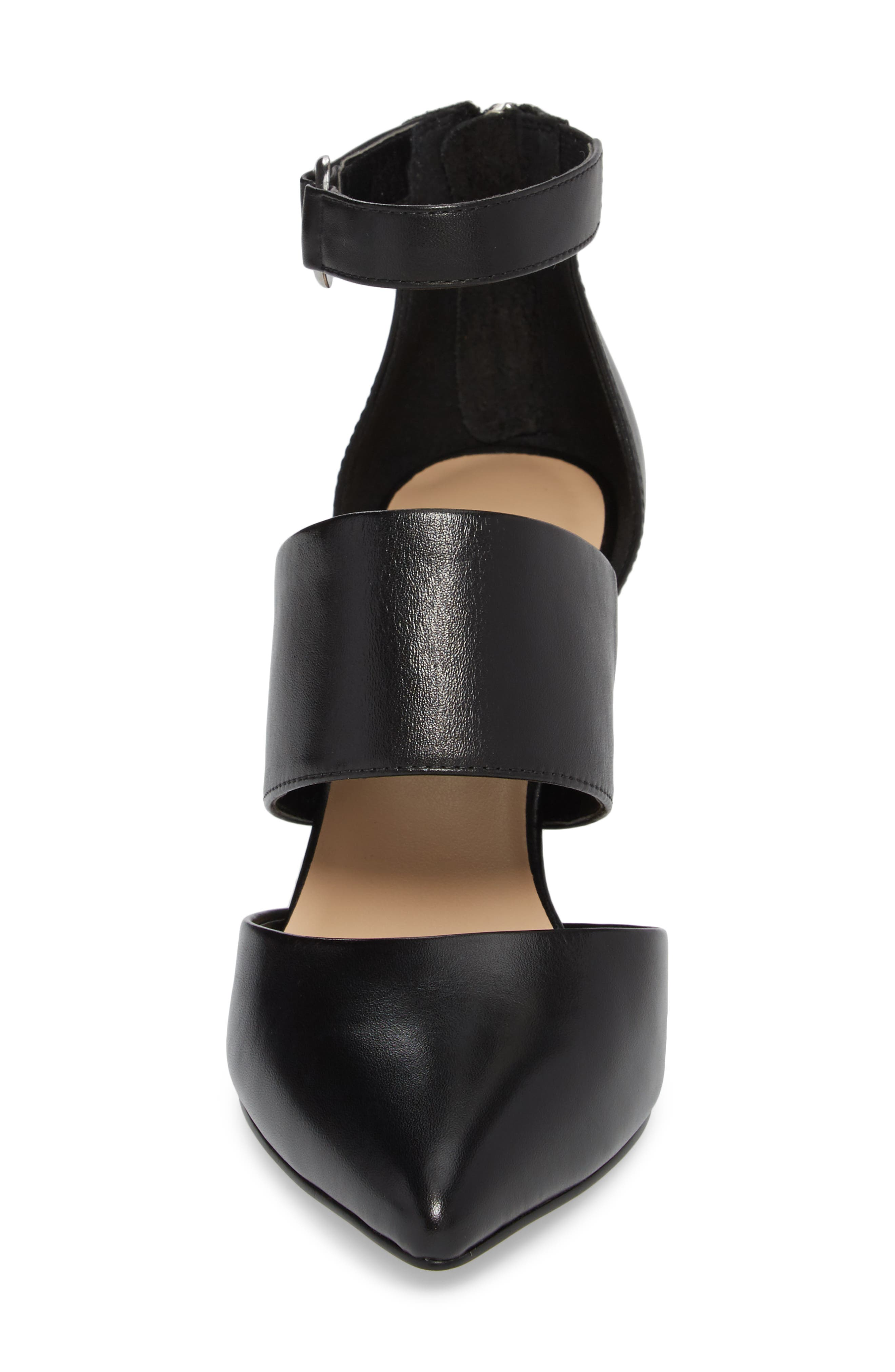Diana Pump,                             Alternate thumbnail 4, color,                             Black Leather