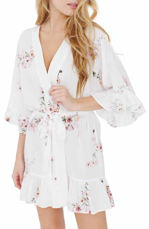 Plum Pretty Sugar Floral Flutter Robe