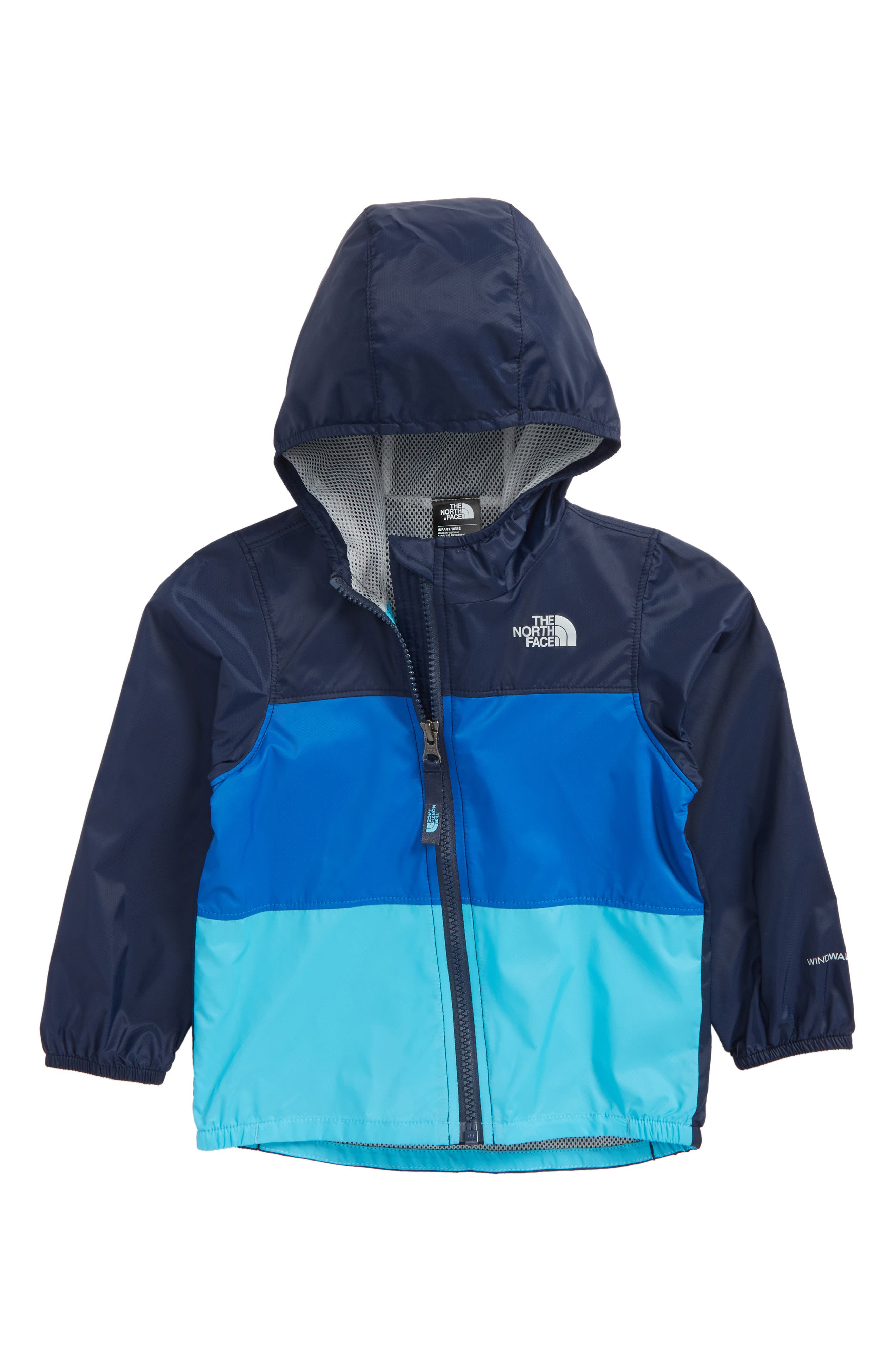 Flurry Hooded Windbreaker,                             Main thumbnail 1, color,                             Cosmic Blue