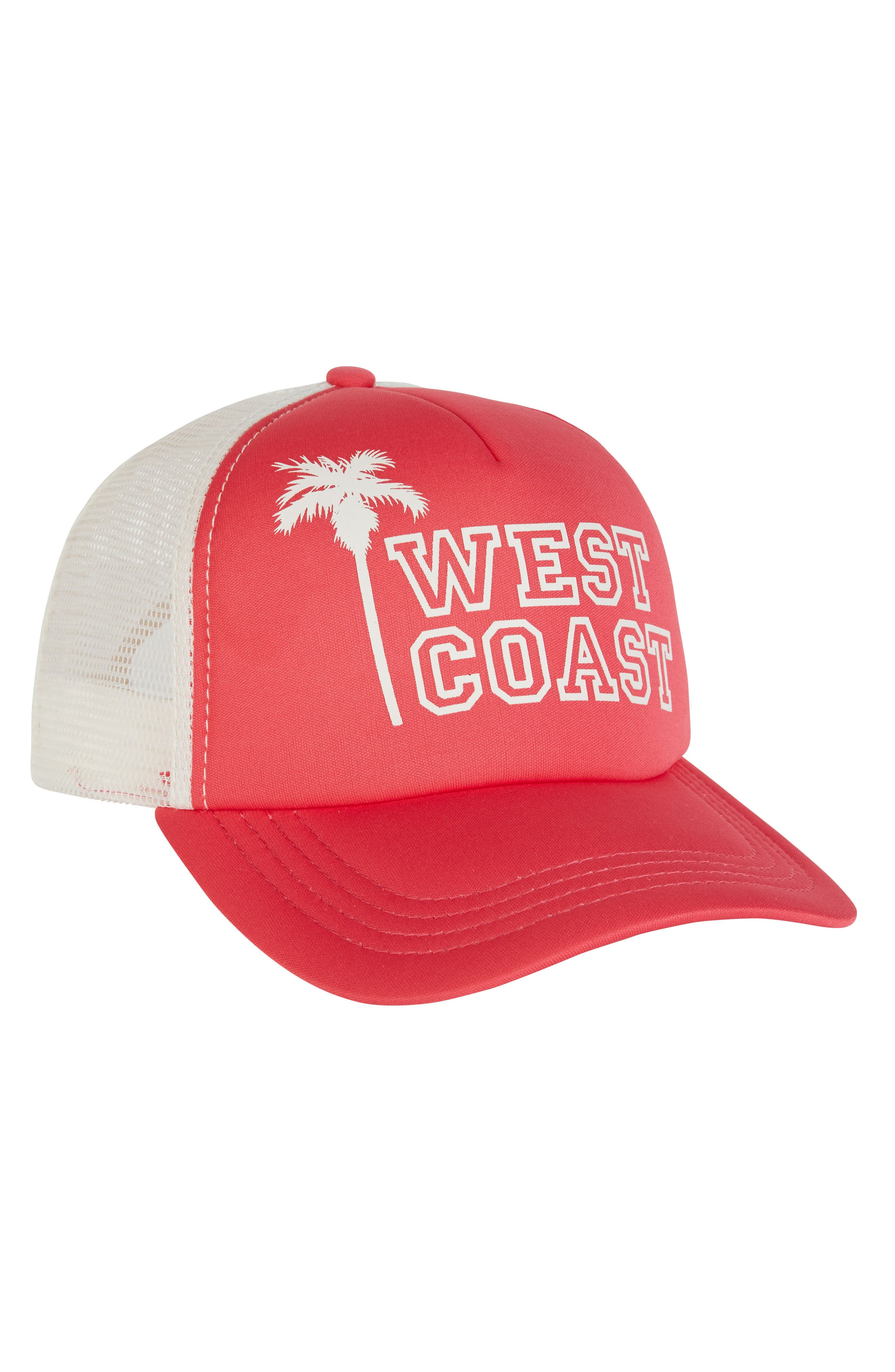 Across Waves Baseball Cap,                             Alternate thumbnail 3, color,                             Passion Fruit