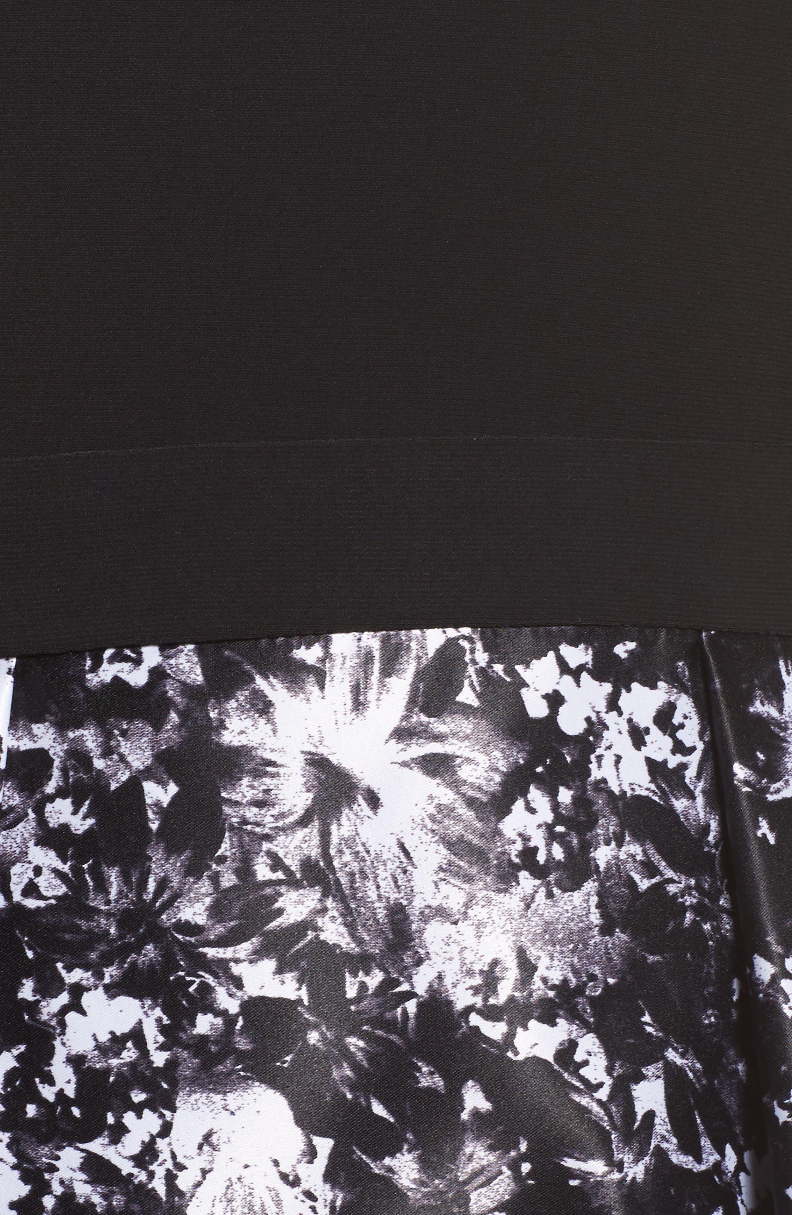 Alternate Image 5  - Xscape Floral Print Ballgown (Plus Size)
