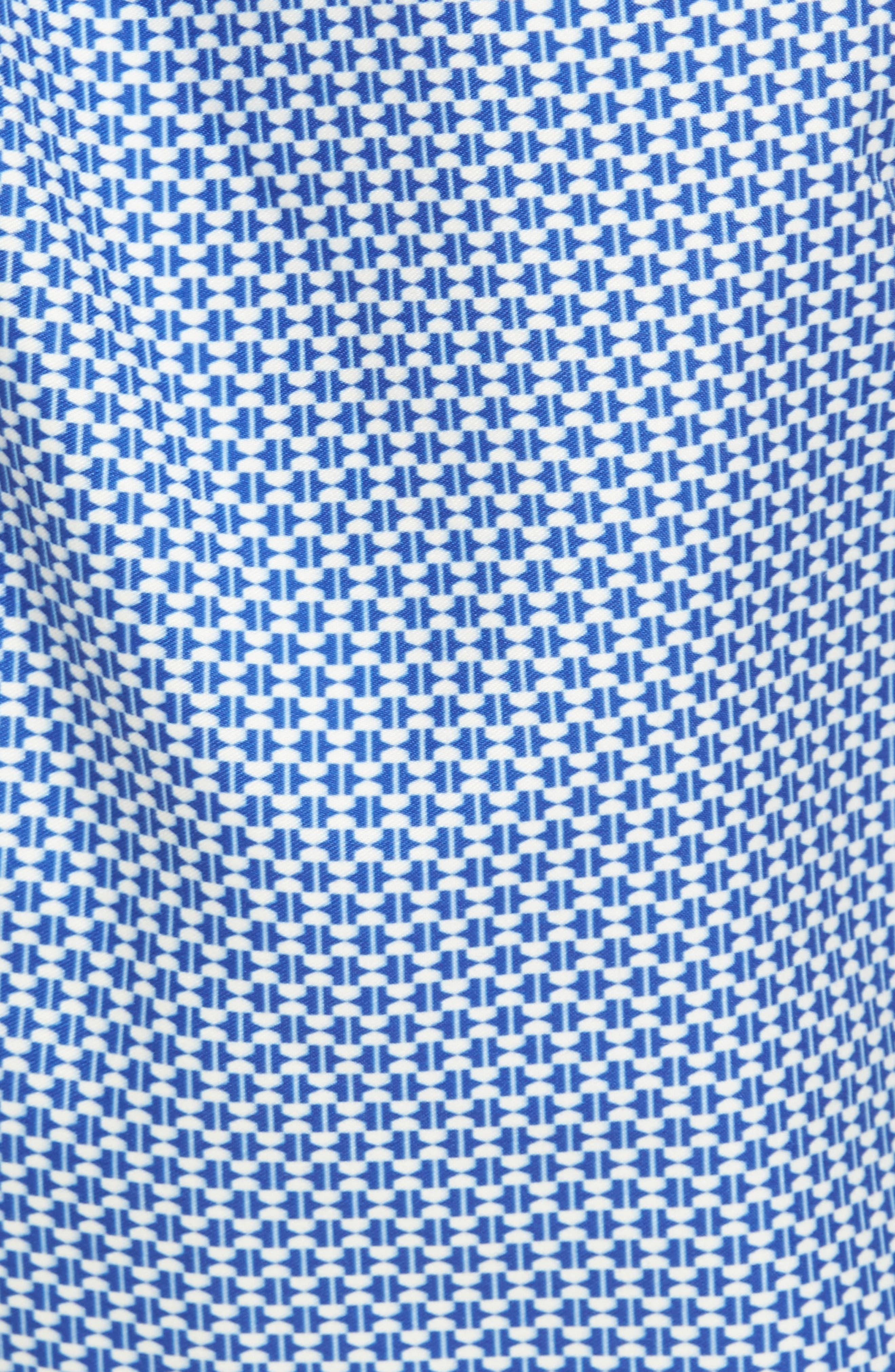 Larkman Geo Print Swim Shorts,                             Alternate thumbnail 5, color,                             Light Blue