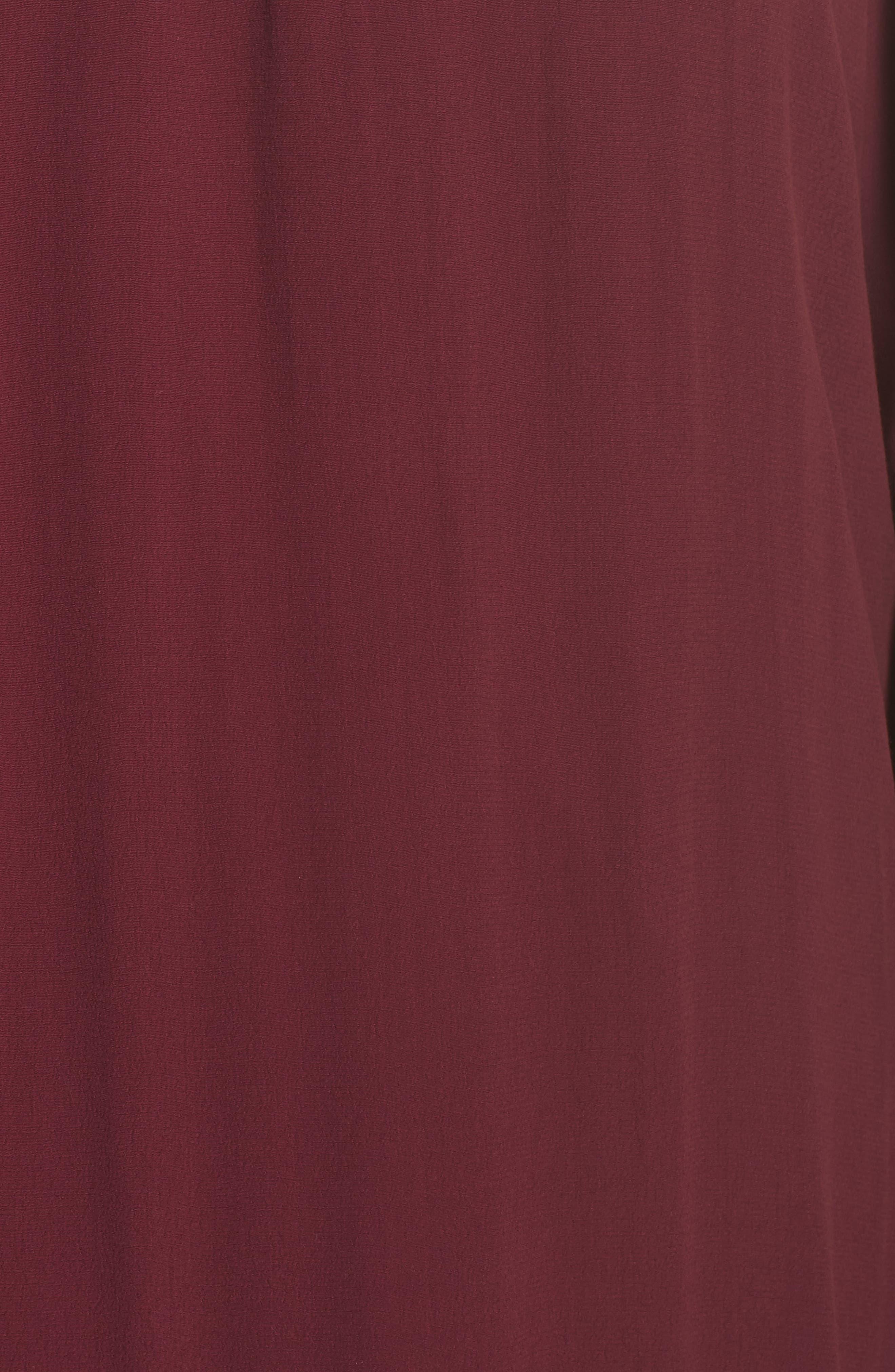 Jolie Lace Accent Cover-Up Dress,                             Alternate thumbnail 5, color,                             Burgundy