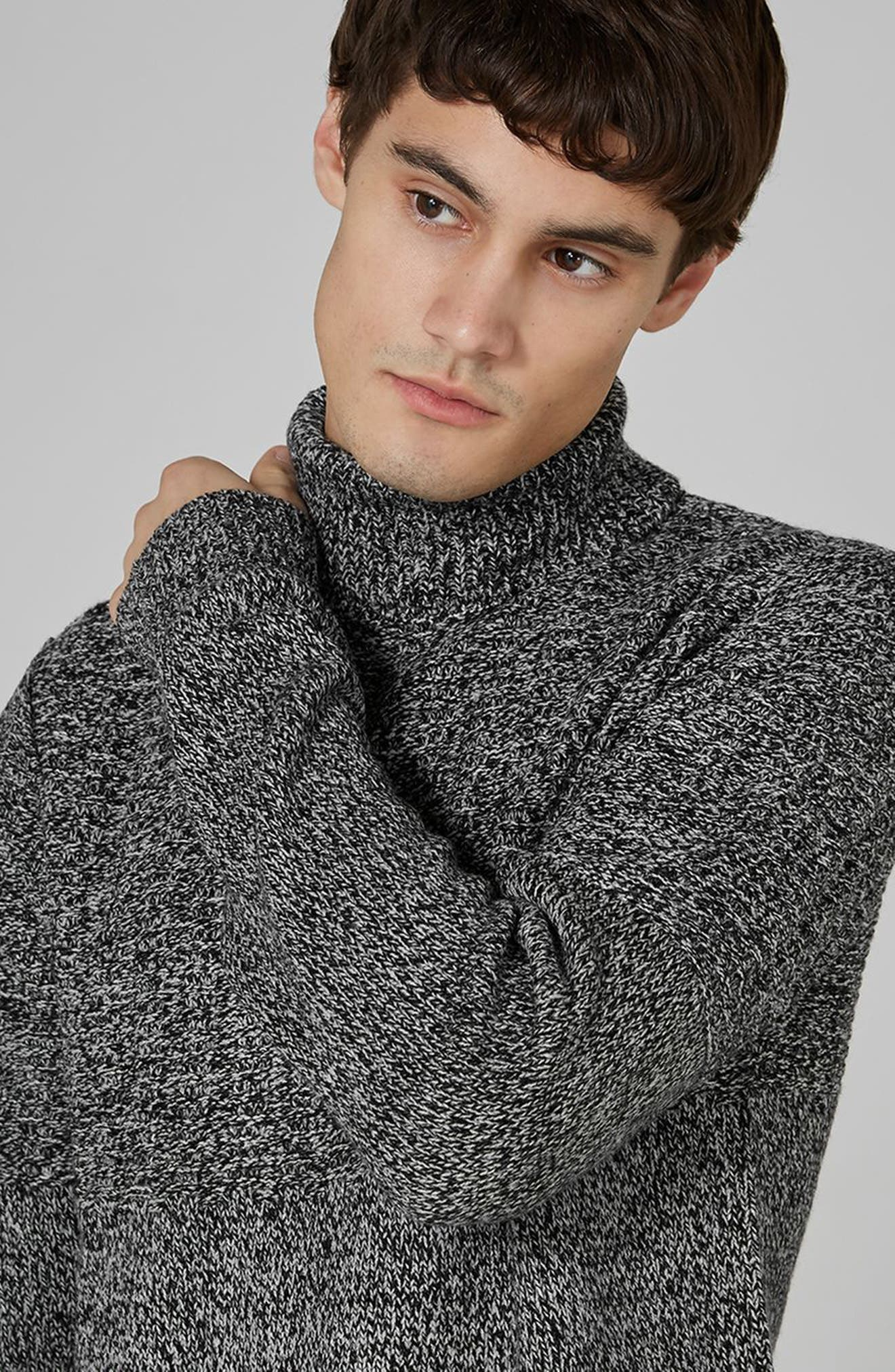 Alternate Image 4  - Topman Twist Roll Neck Sweater