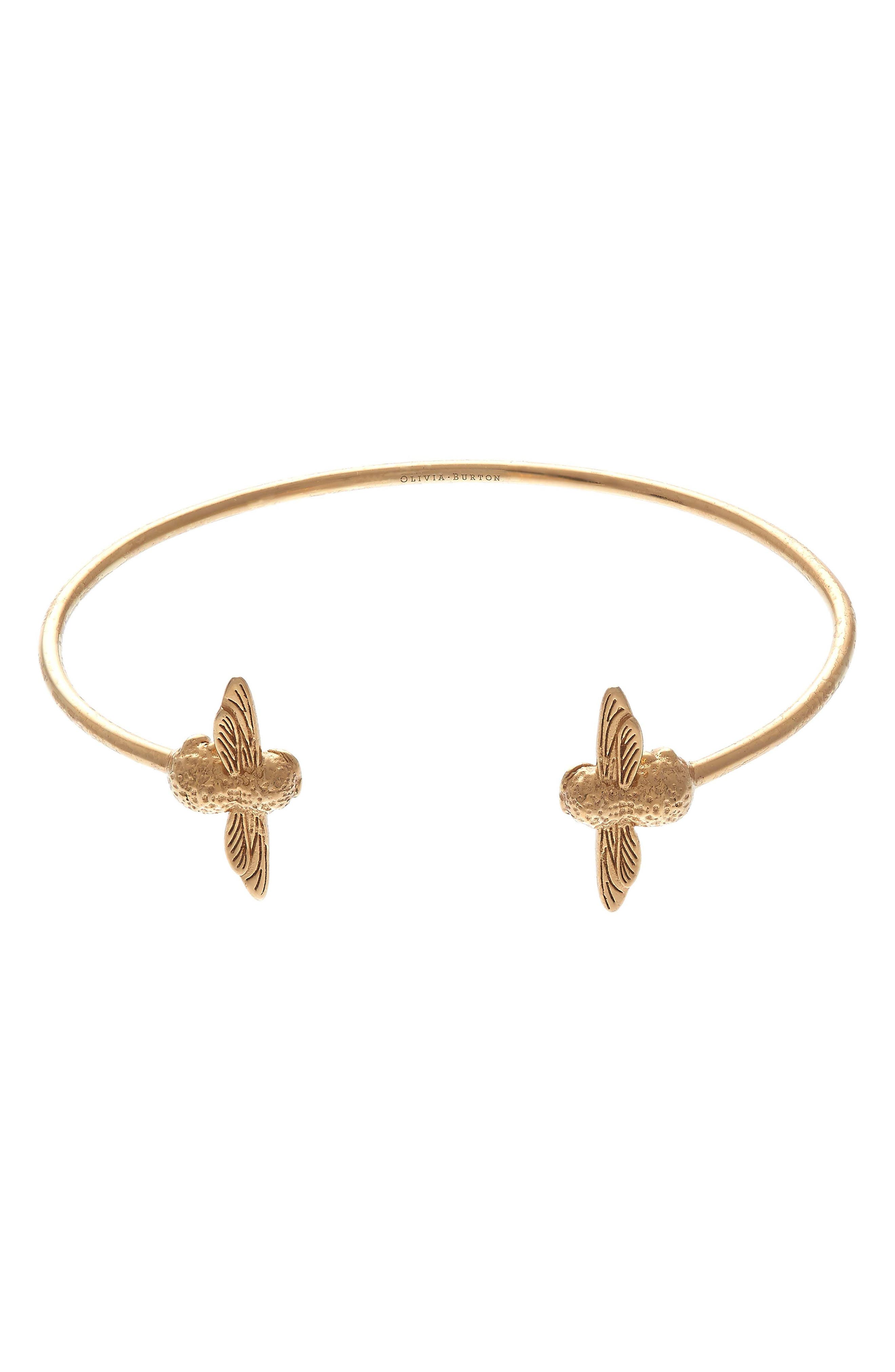 Olivia Burton 3D Bee Open Bangle Bracelet