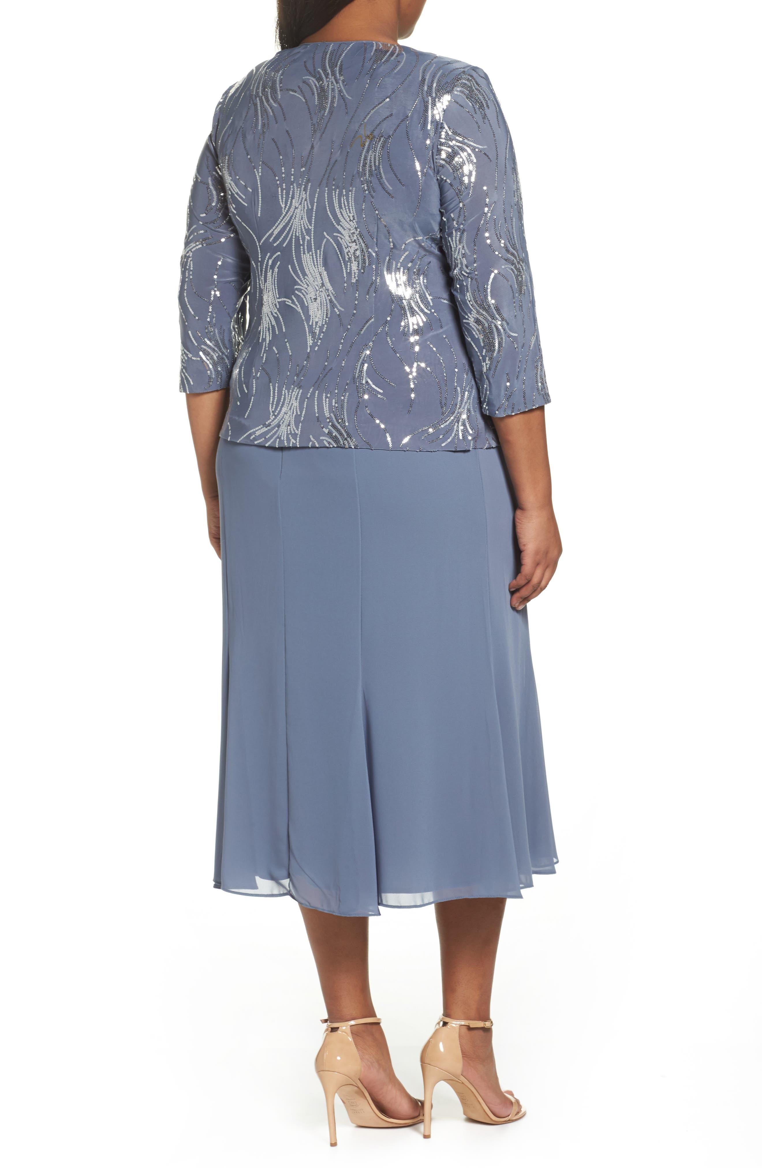 Alternate Image 2  - Alex Evenings Mock Two-Piece Jacket Dress (Plus Size)
