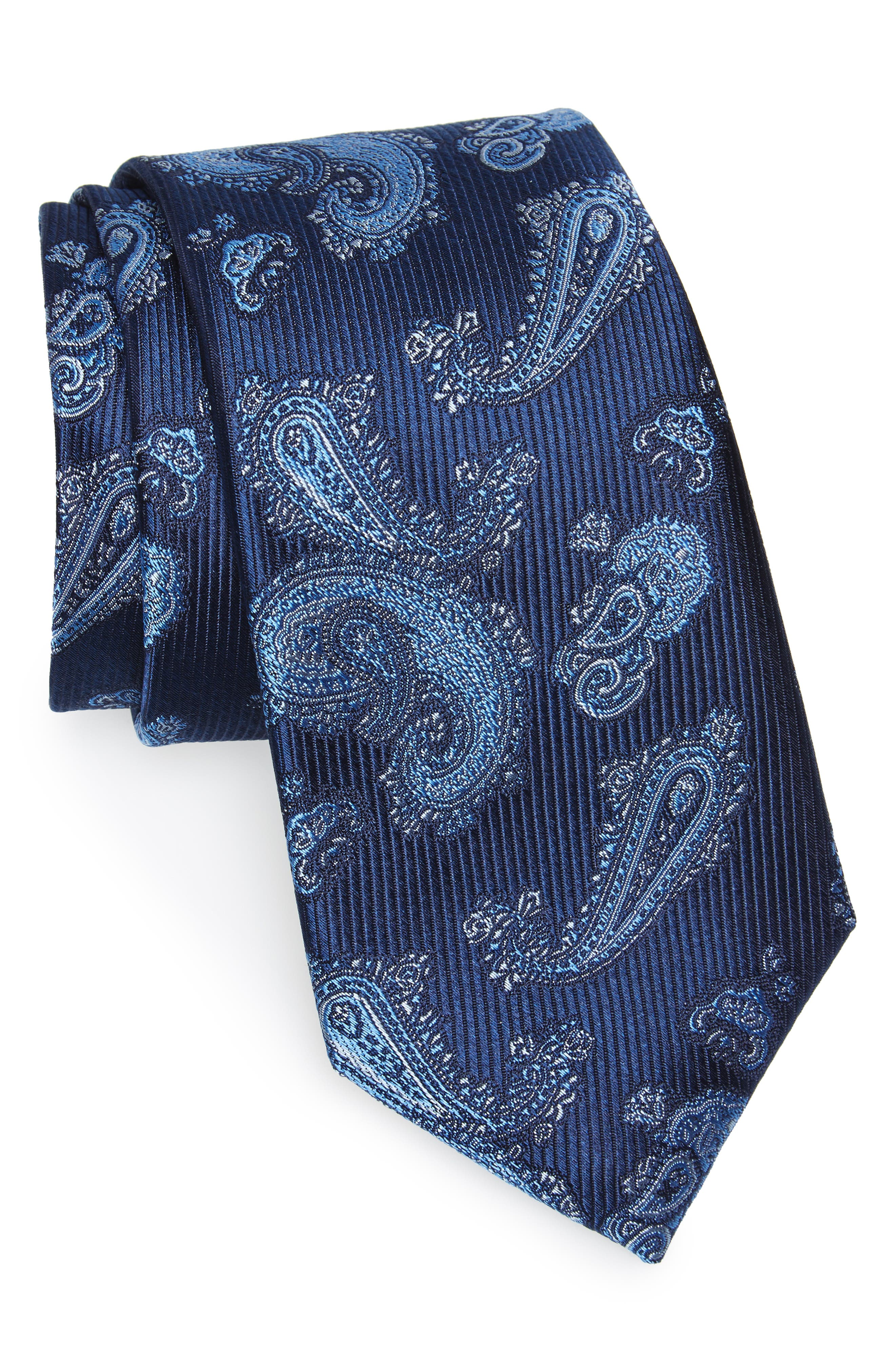Main Image - Nordstrom Men's Shop Paisley Silk Tie