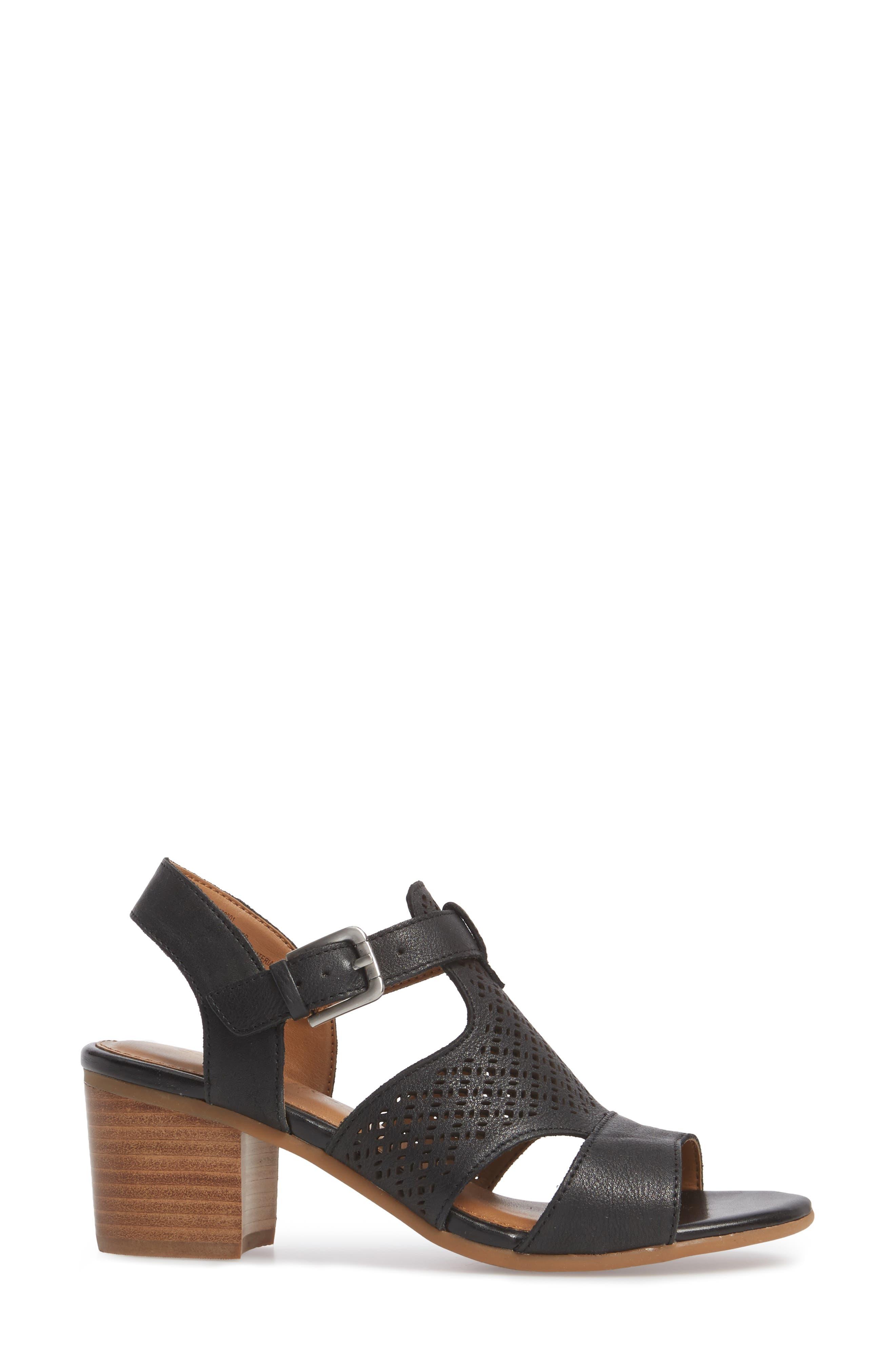 Alternate Image 3  - Comfortiva Amber Perforated Block Heel Sandal (Women)