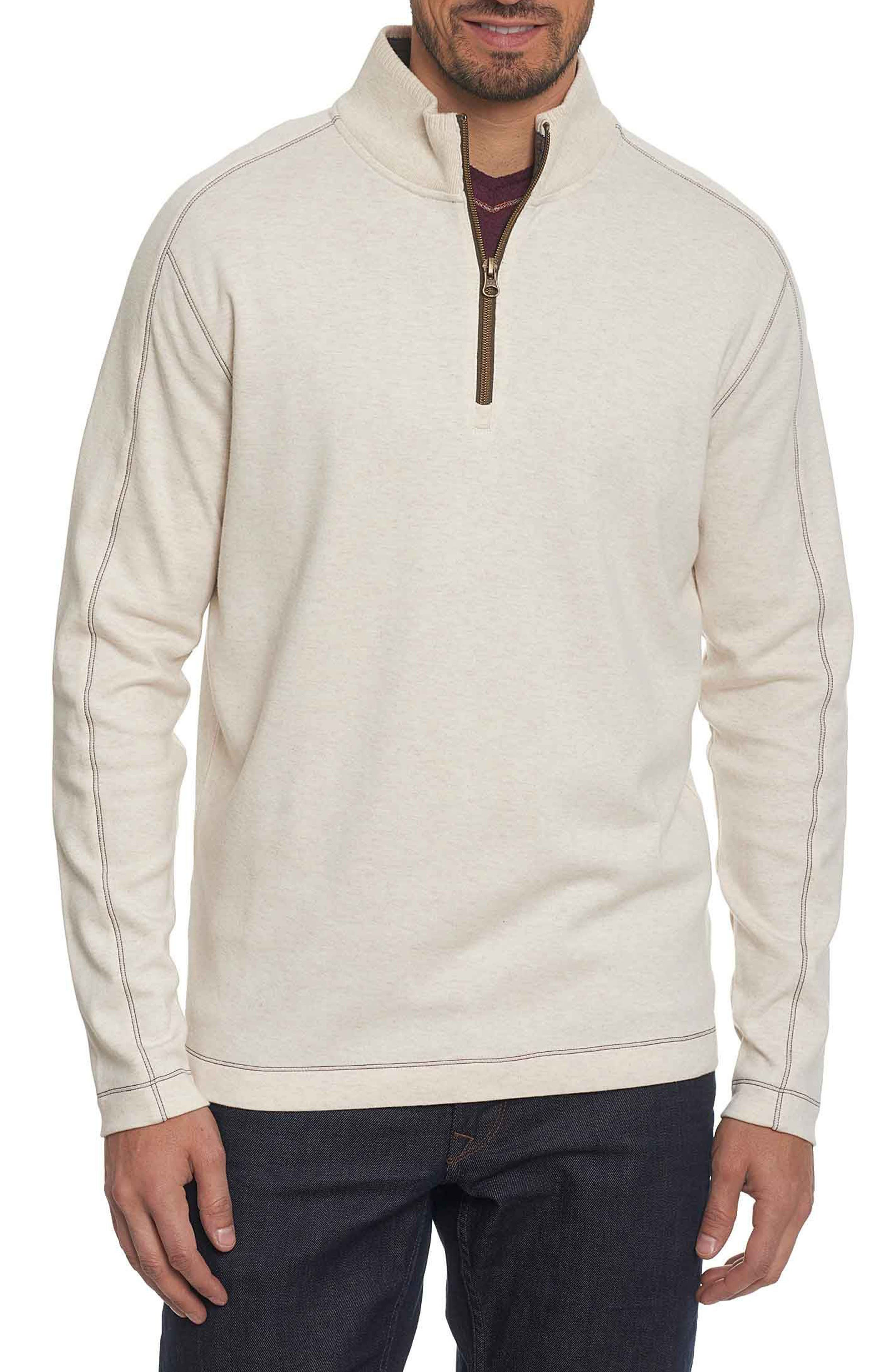 'Elia' Regular Fit Quarter Zip Pullover,                             Main thumbnail 1, color,                             Heather White
