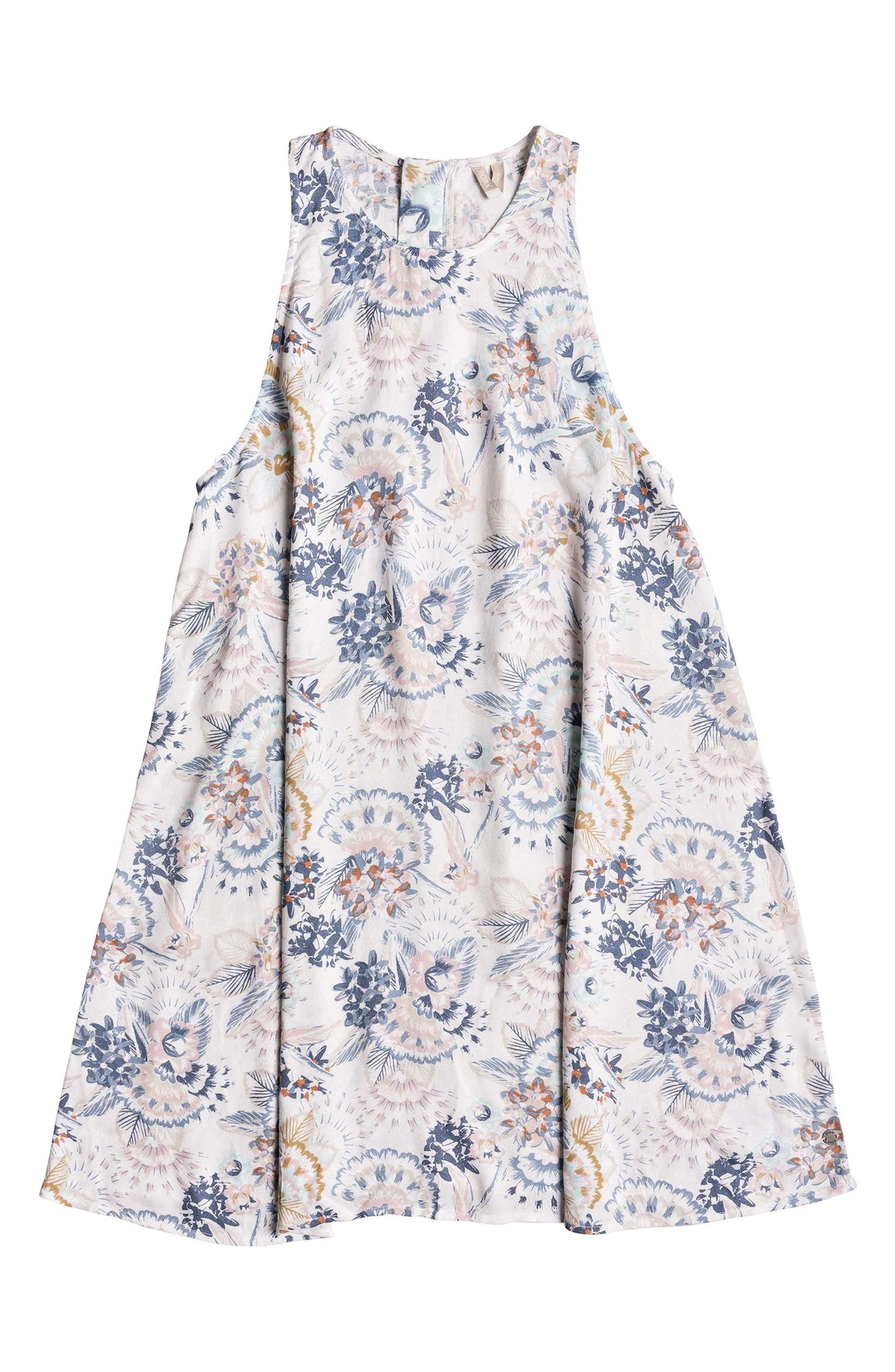 Sweet Seas Trapeze Dress,                             Alternate thumbnail 4, color,                             Marshmallow Mahna Mahna