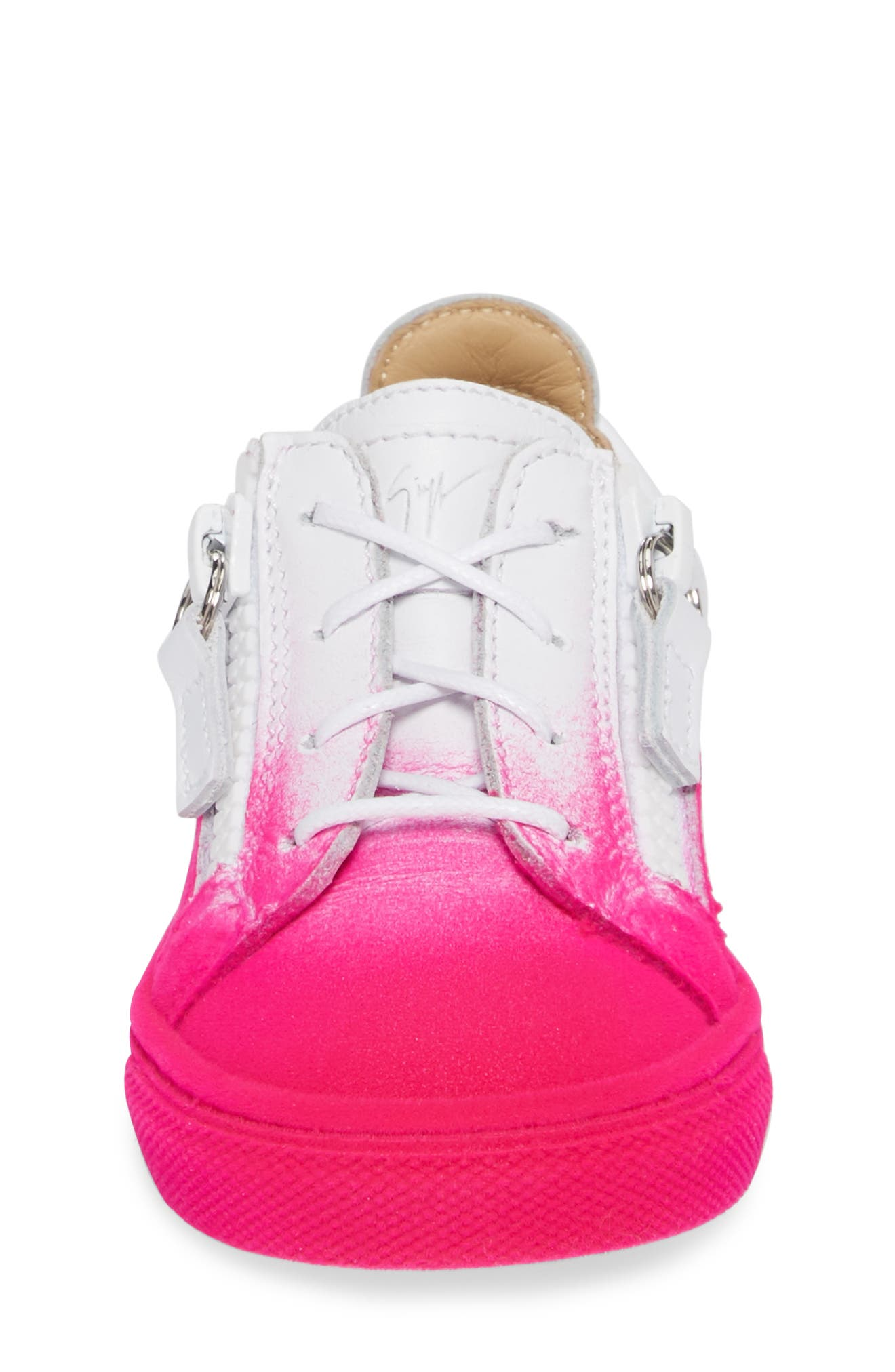 Alternate Image 4  - Giuseppe Zanotti Smuggy Ombré Flocked Sneaker (Baby, Walker, Toddler & Little Kid)