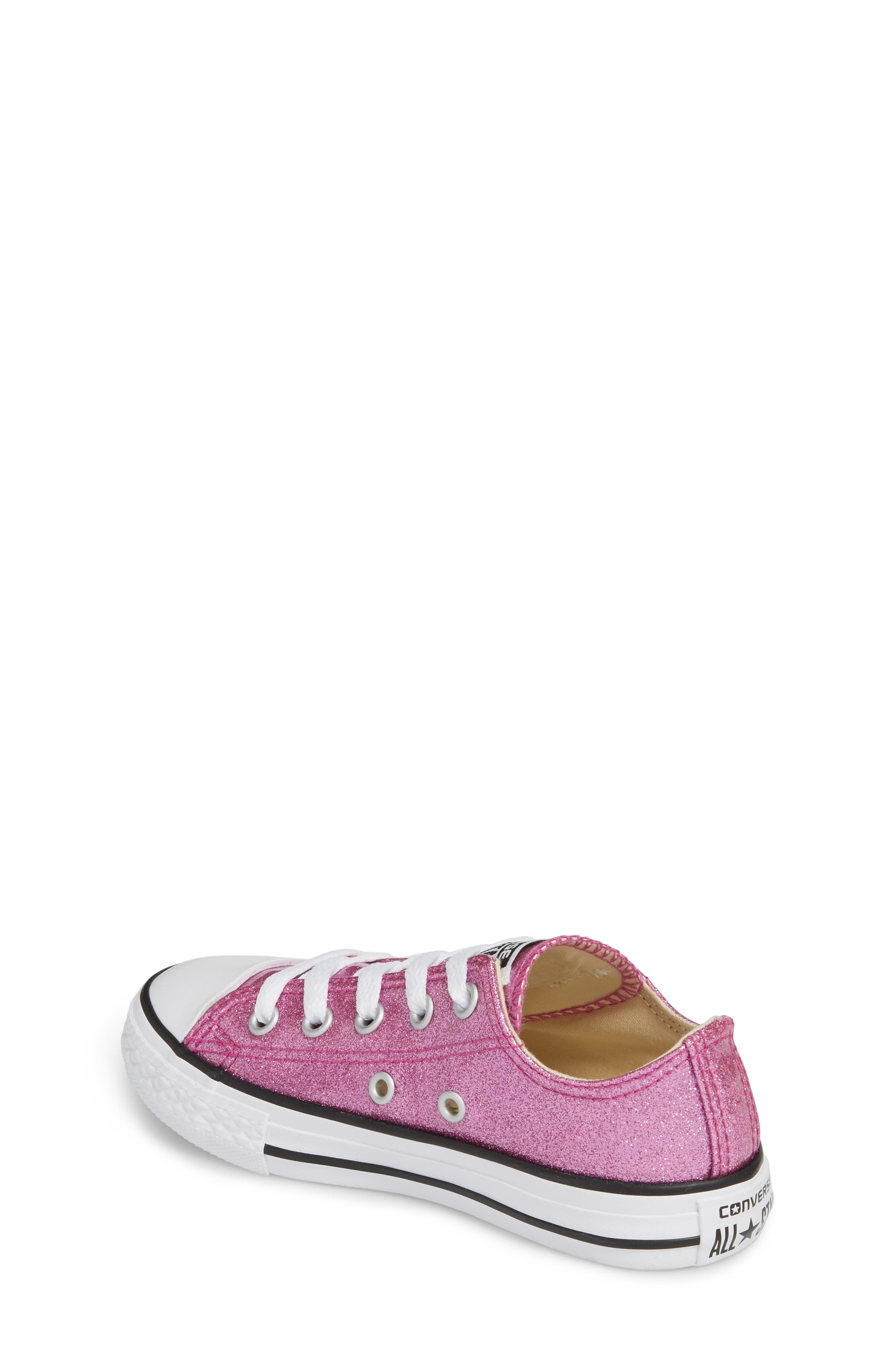 All Star<sup>®</sup> Seasonal Glitter OX Low Top Sneaker,                             Alternate thumbnail 2, color,                             Bright Violet