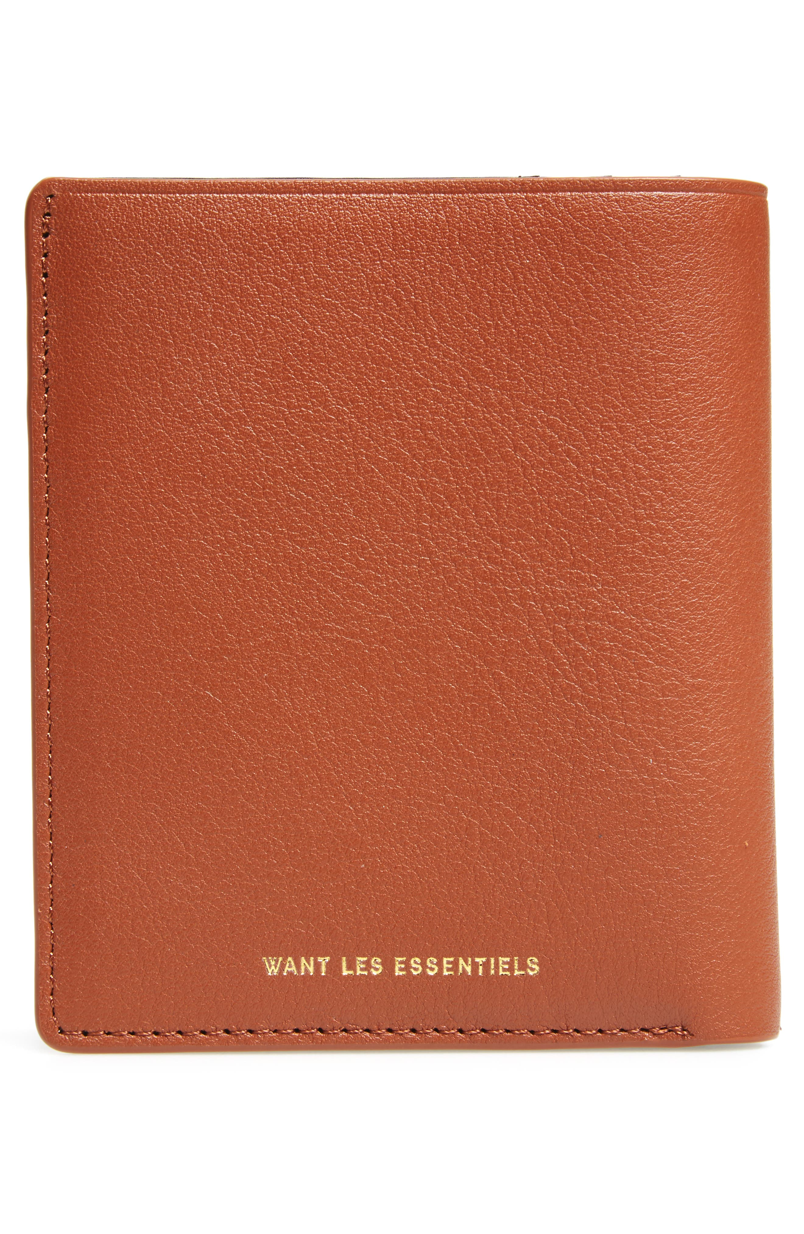 Bradley Bifold Leather Wallet,                             Alternate thumbnail 3, color,                             Multi Sand