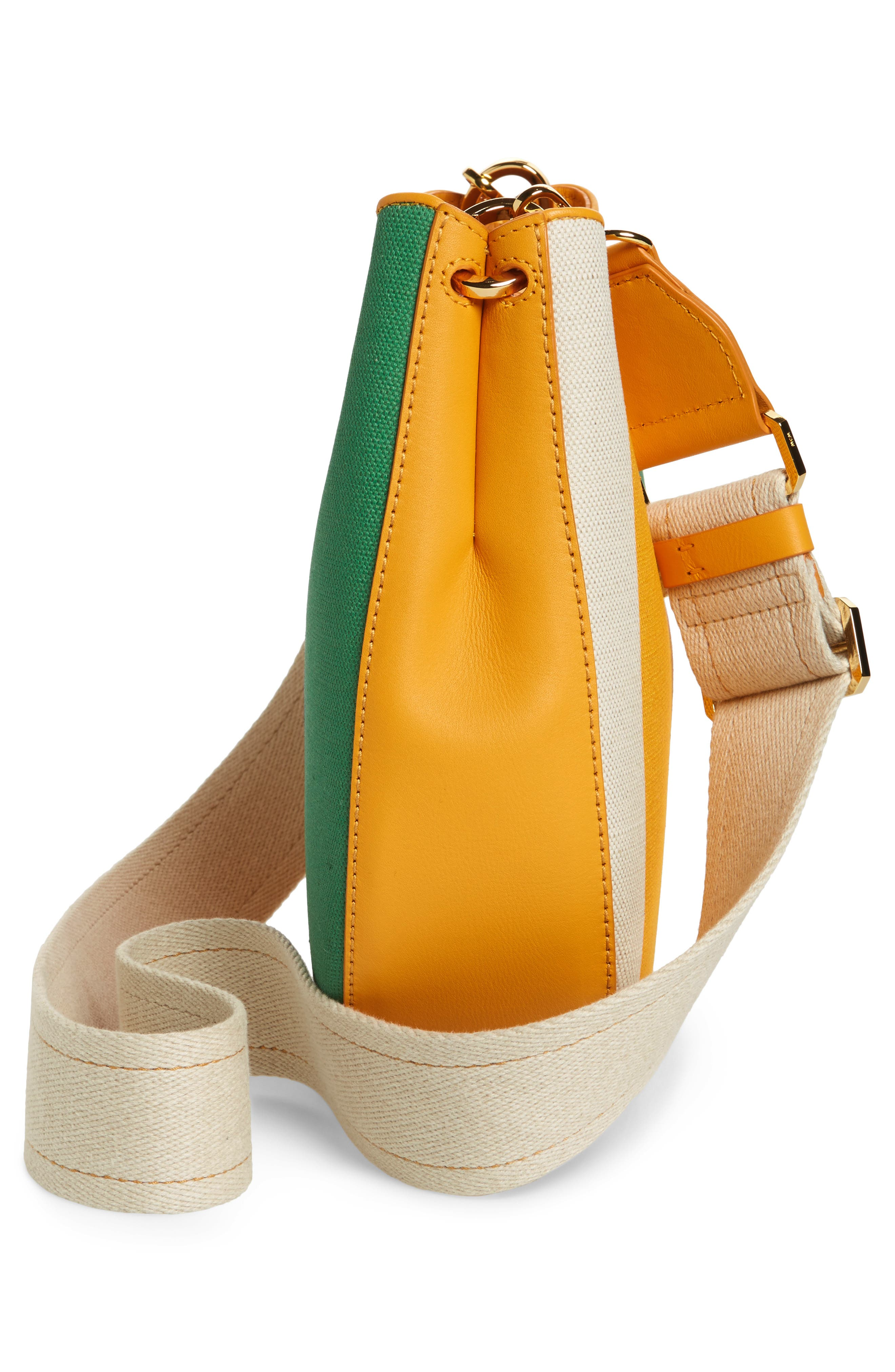 Medium Patricia Canvas Hobo Bag,                             Alternate thumbnail 4, color,                             Rainbow Yellow