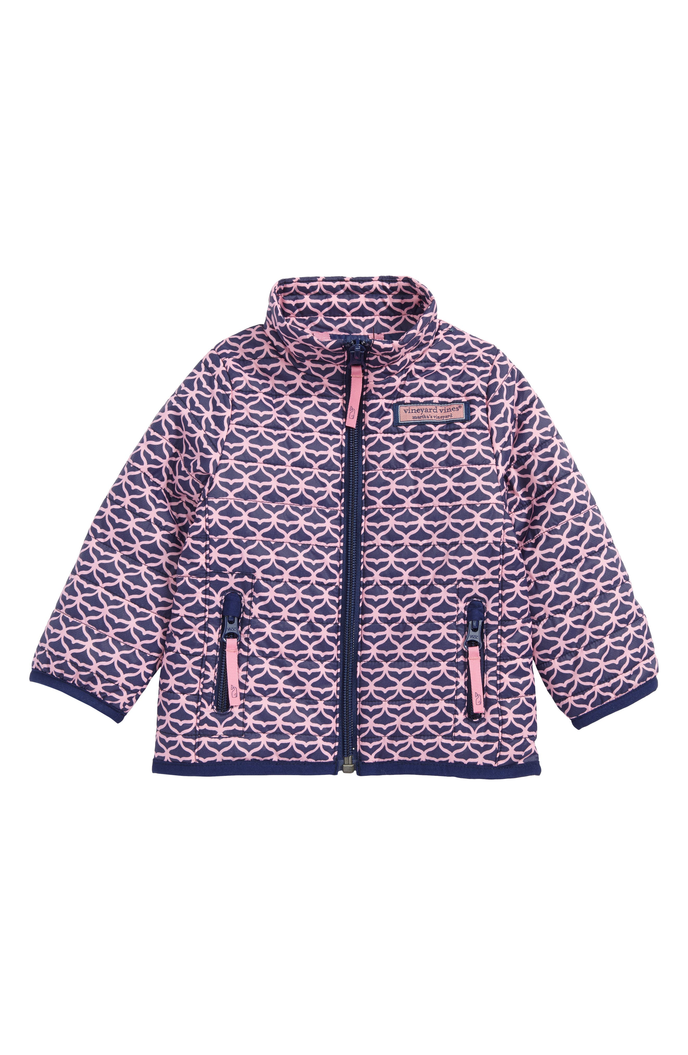 Whale Tail Mountain Weekend Quilted Jacket,                             Main thumbnail 1, color,                             Deep Bay