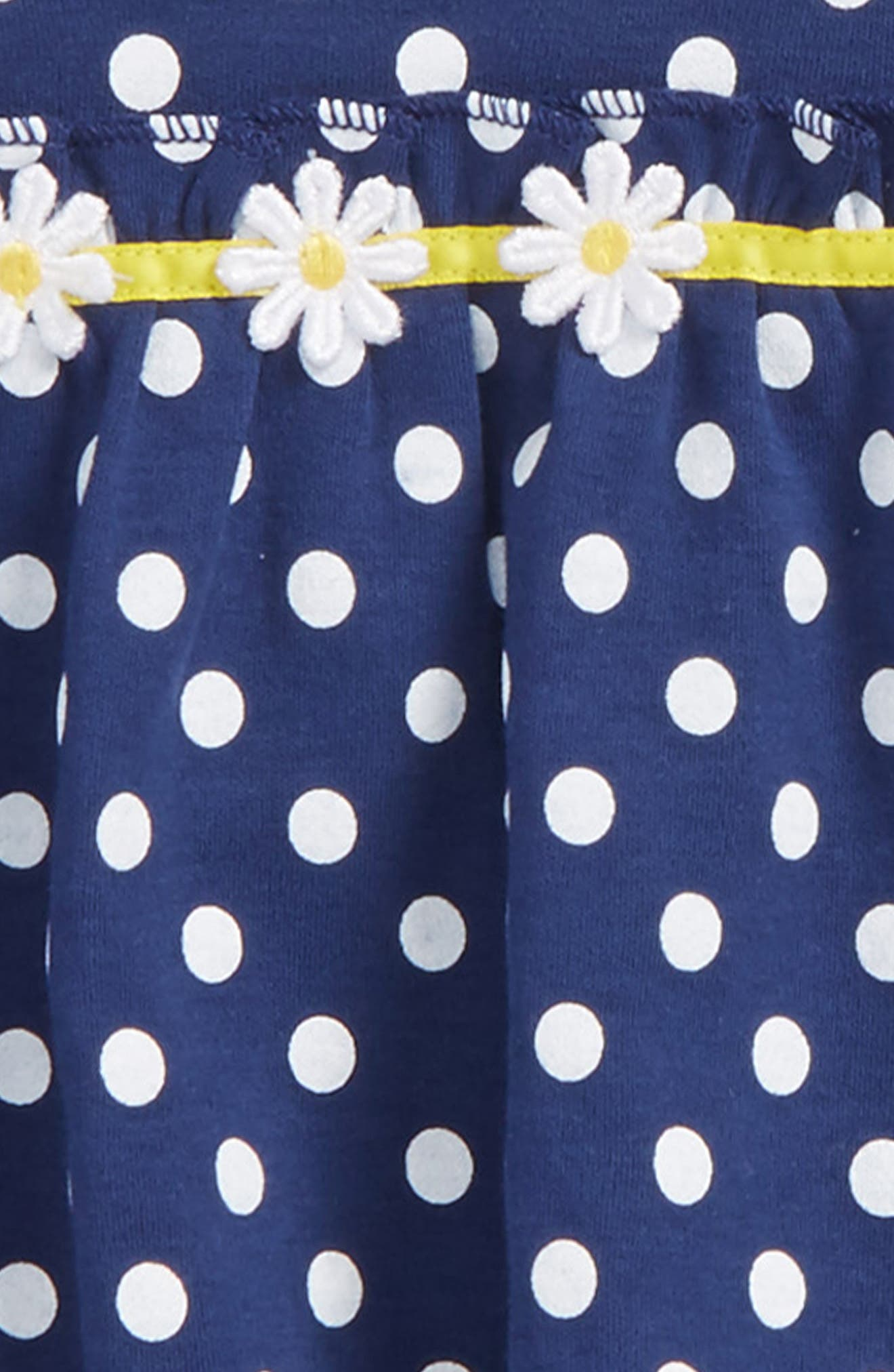 Alternate Image 2  - Little Me Daisy Tunic, Leggings & Headband Set (Baby Girls)