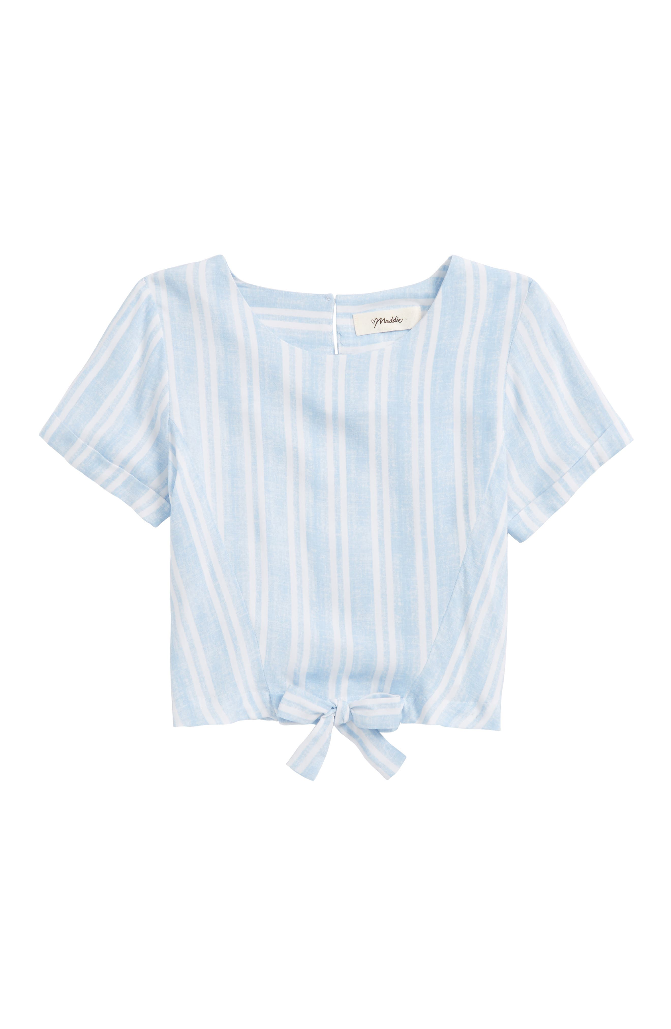 Maddie Tie Front Shirt (Big Girls)