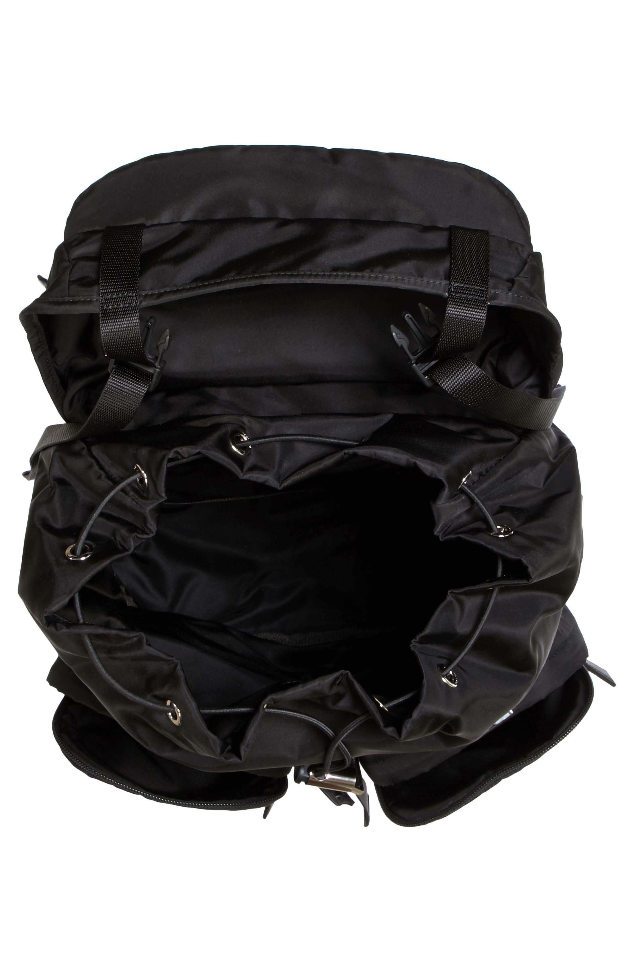 Montagna Flap Double Pocket Backpack,                             Alternate thumbnail 4, color,                             Nero